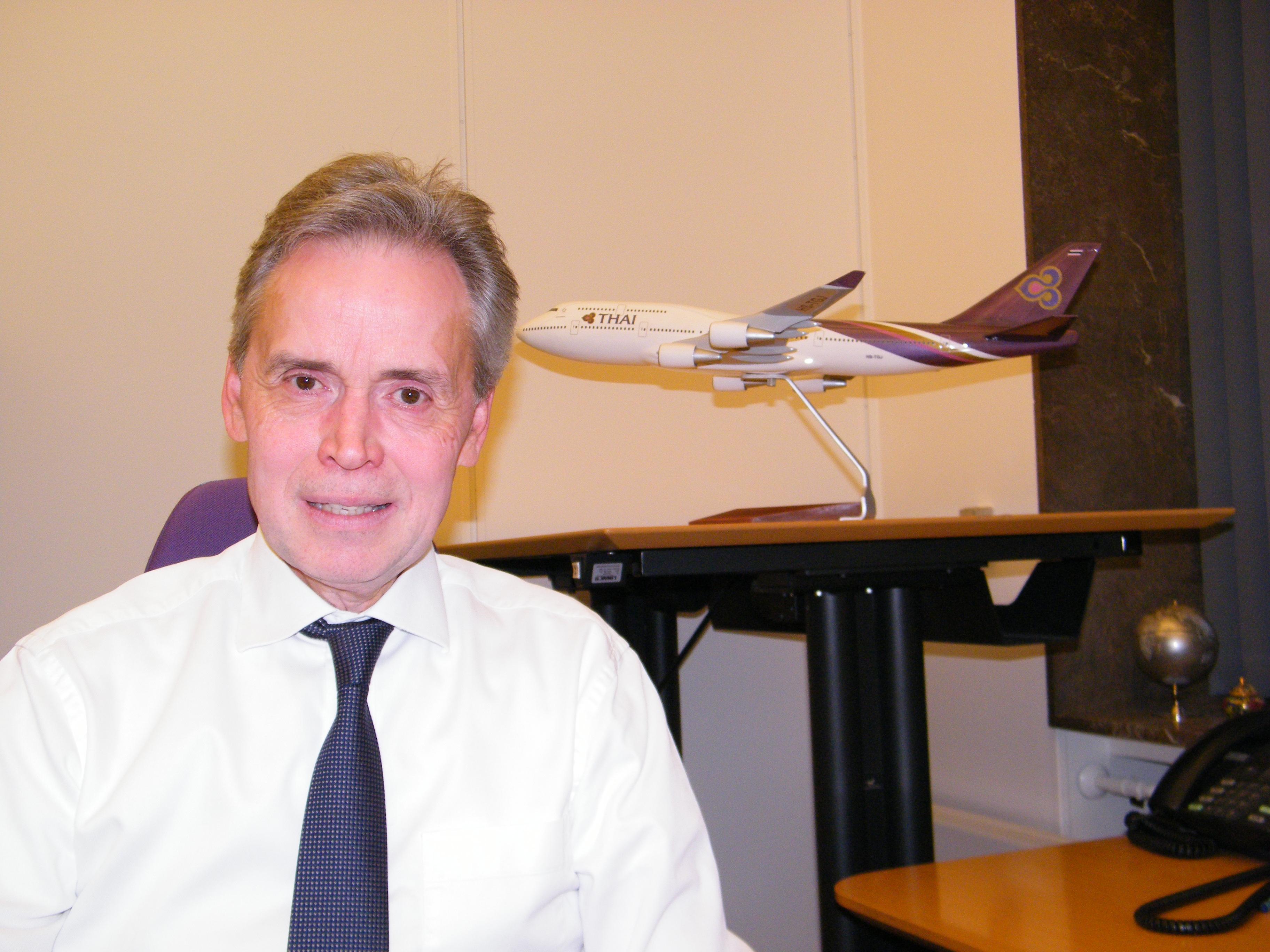 Salgschef Flemming Sonne stopper ved udgangen af denne måned hos Thai Airways i Danmark. Foto: Henrik Baumgarten