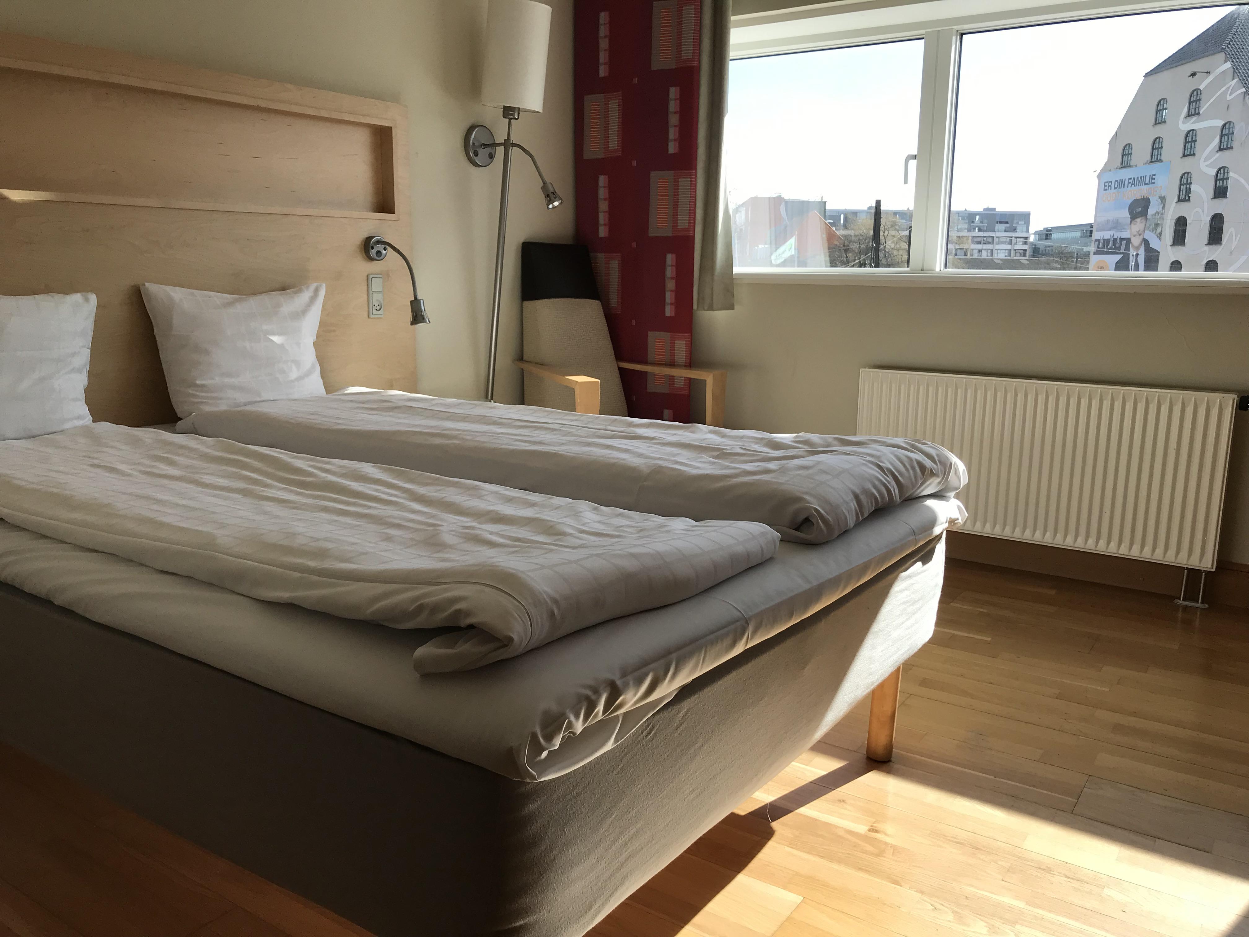 Standardværelse på Scandic Hotel Sydhavnen (Foto: Ole Kirchert Christensen)