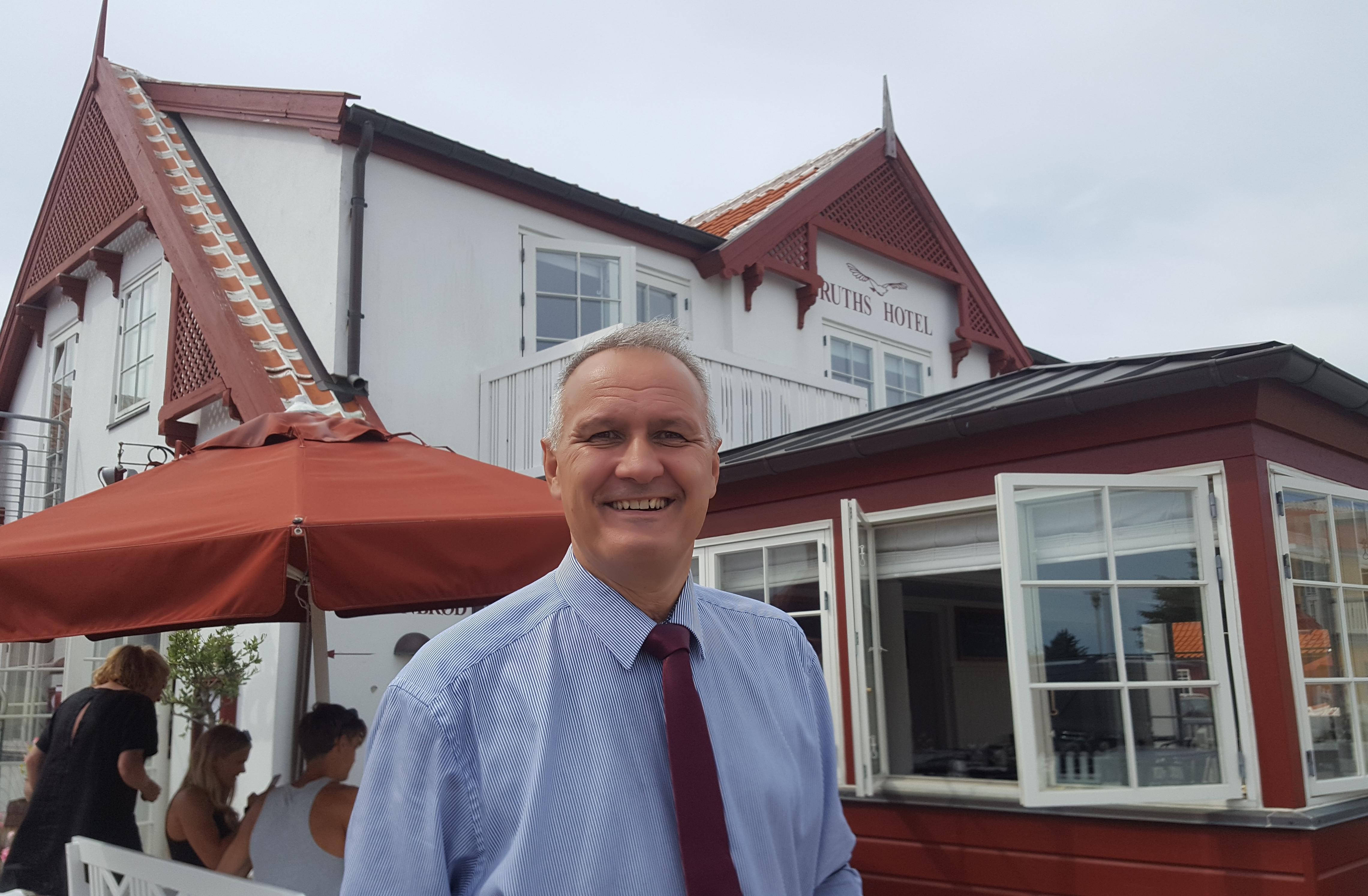 Peter Christian Bühlmann Jensen stopper som administrerende direktør for Ruths Hotel i Gl. Skagen, men indtræder i dets bestyrelse. Foto: Ruths Hotel.