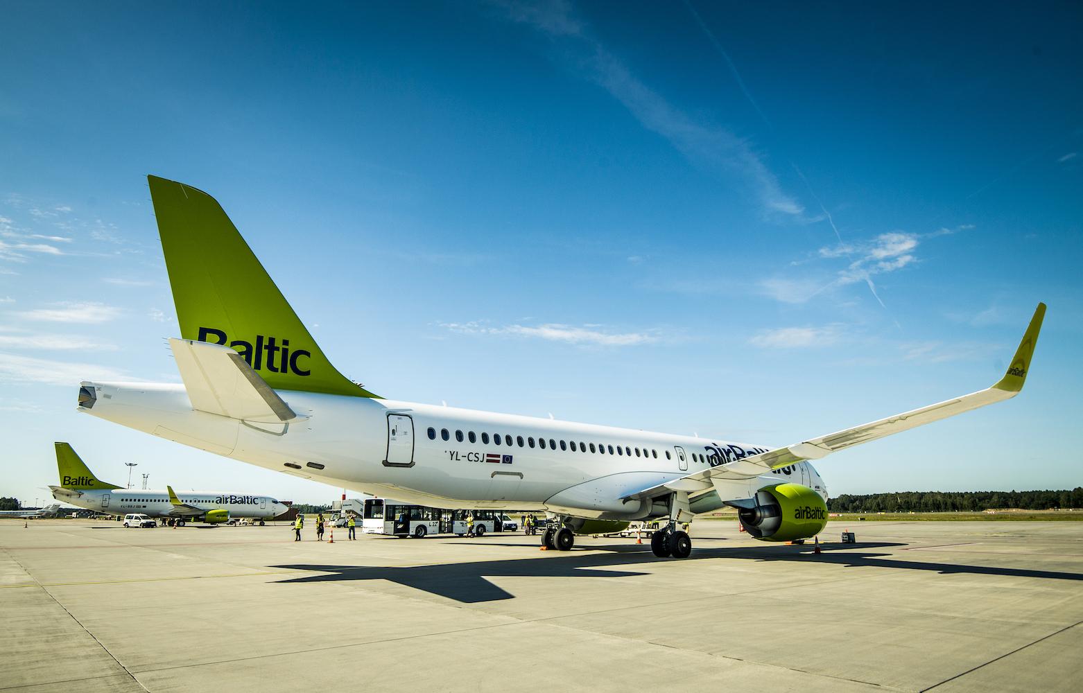 AirBaltic har foreløbig modtaget 14 af sine 80 bestilte  Airbus A220-300. Selskabet har i øjeblikket også otte  Boeing 737 og 12 Bombardier Q400Next Gen propelfly. Pressefoto.