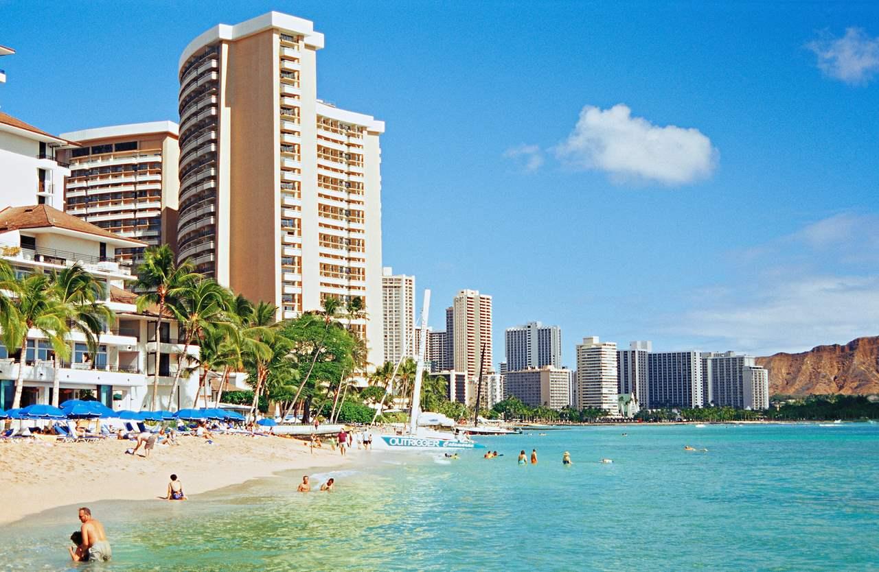 Hawaii i Stillehavet er en populær feriedestination. Her arkivfoto fra Spies.dk