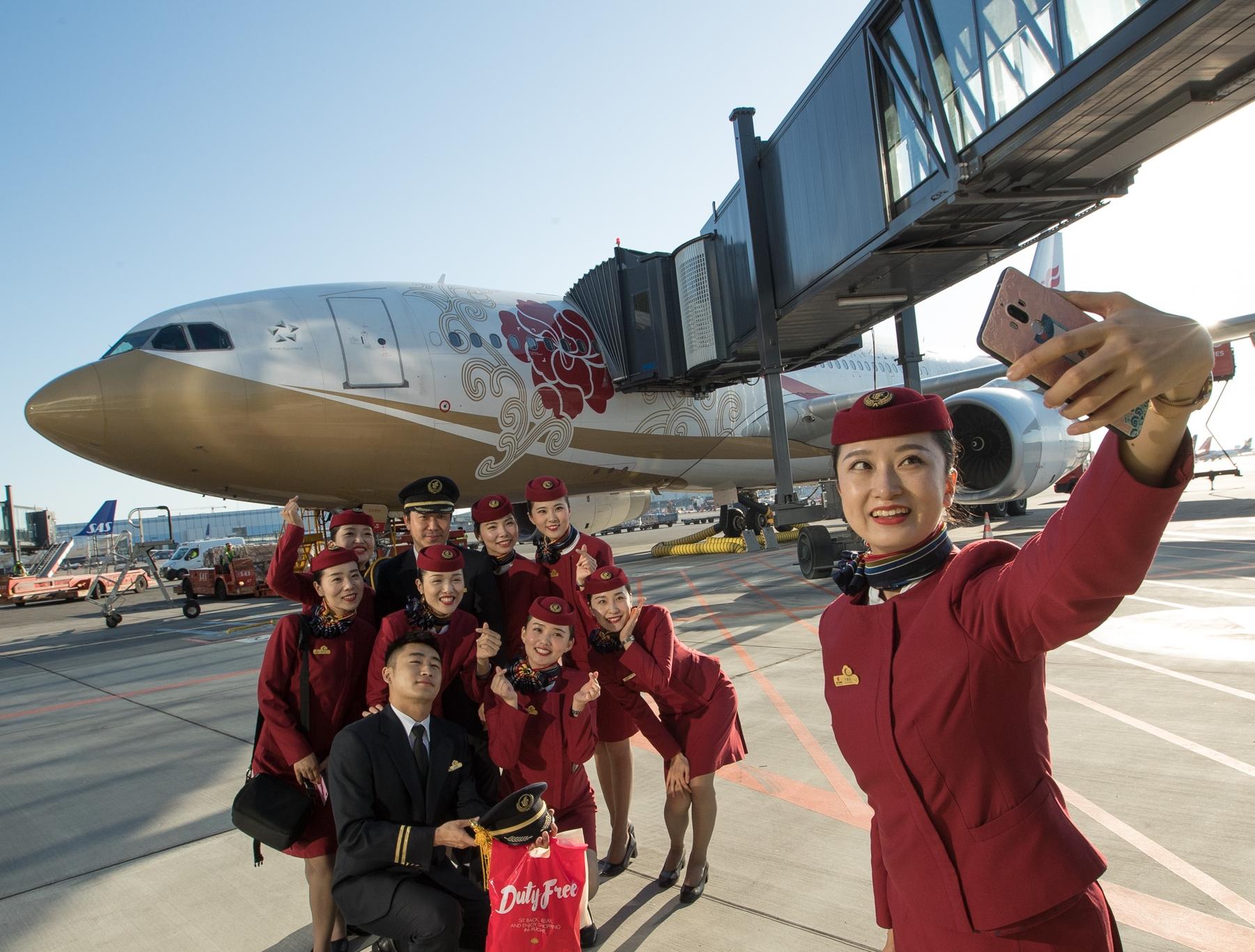 Air China er sammen med China Eastern og China Southern de tre største flyselskaber i Kina, også på langruter. Her foto fra Københavns Lufthavn, hvor Air China sidste år åbnede ny rute fra Beijing.