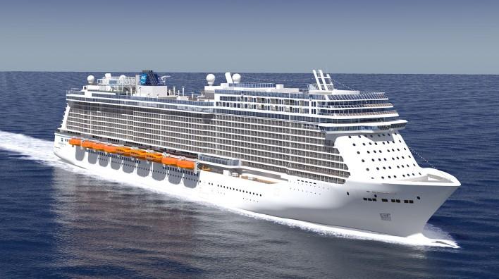 Medlemmerne af Cruise Lines International Association er i år klar med 18 nye oceangående krydstogtskibe, blandt andet dette fra Norwegian Cruise Line: Norwegian Encore. Pressefoto: NCL.