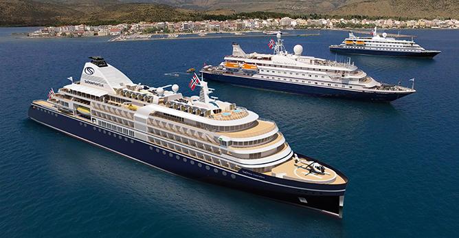 Seadream Yacht Club er blandt rederierne som i år får nye ultraluksus krydstogtskibe. Pressefoto.