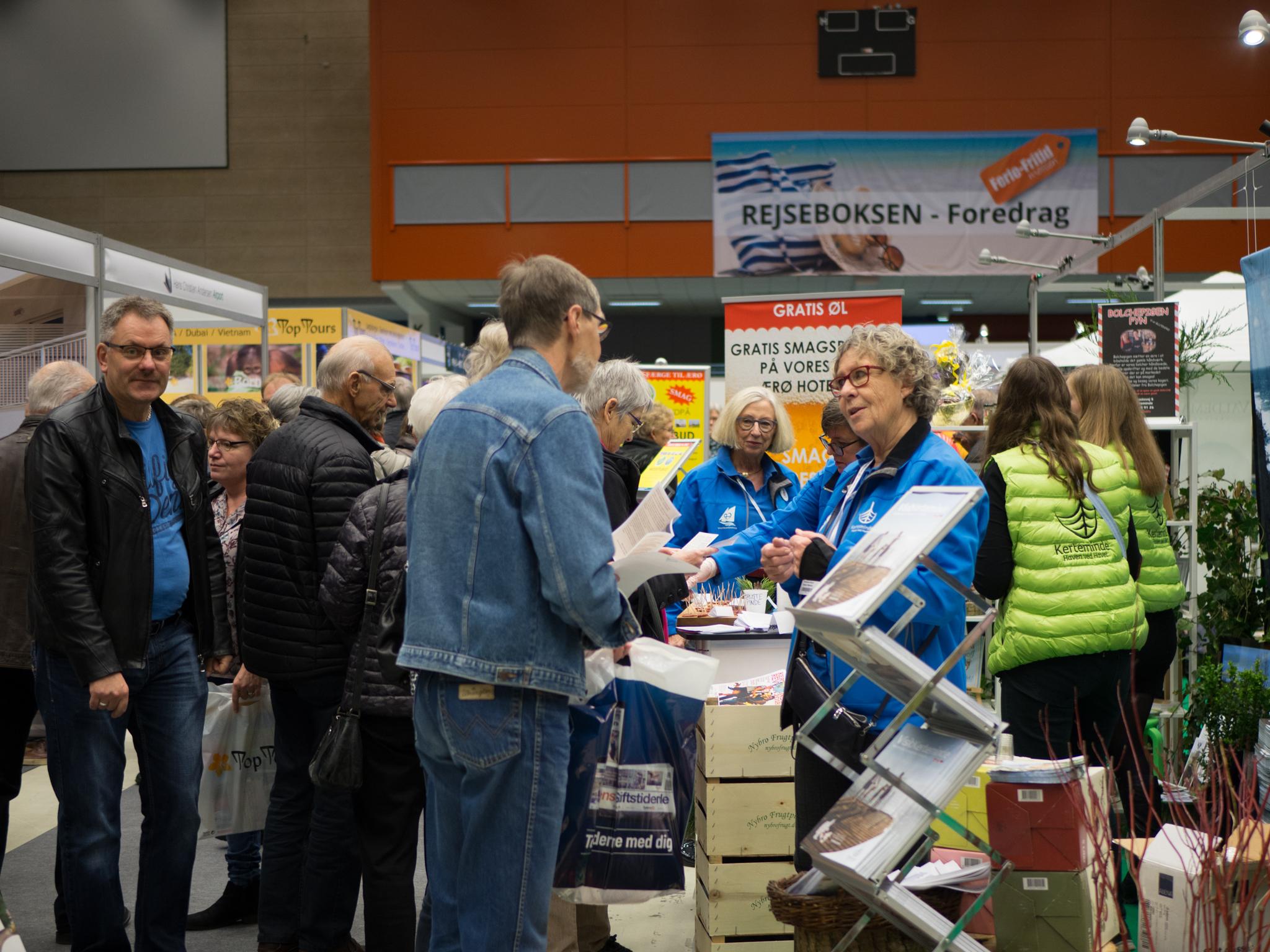 Arkivfoto fra en Ferie-Fritidmesse i Odense Congress Center. Foto: Hans Kristian Hannibal-Bach, Odense Congress Center.
