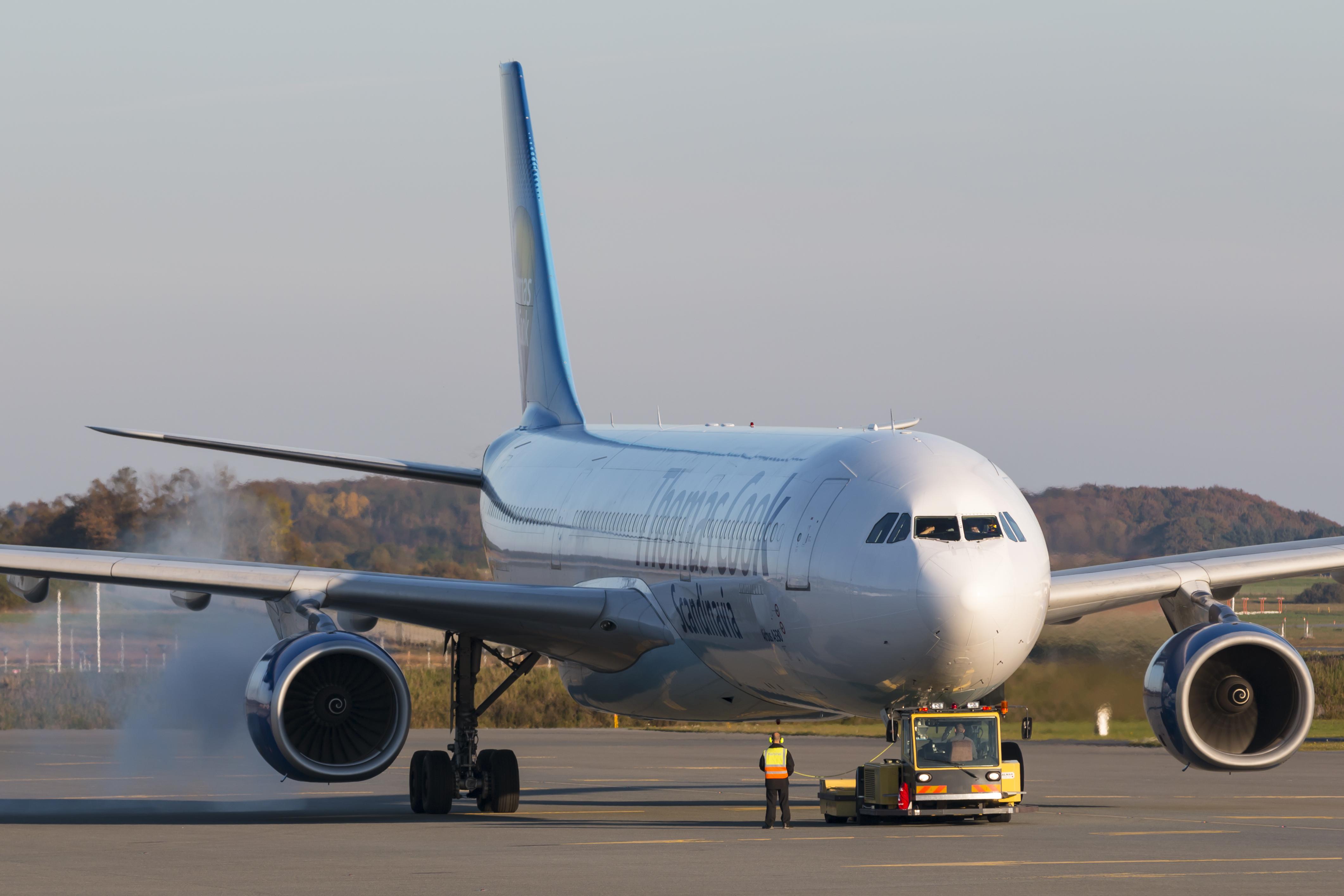 Airbus A330-300'eren OY-VKI, der i øjeblikket venter i Sharjah. (Arkivfoto: © Thorbjørn Brunander Sund, Danish Aviation Photo)