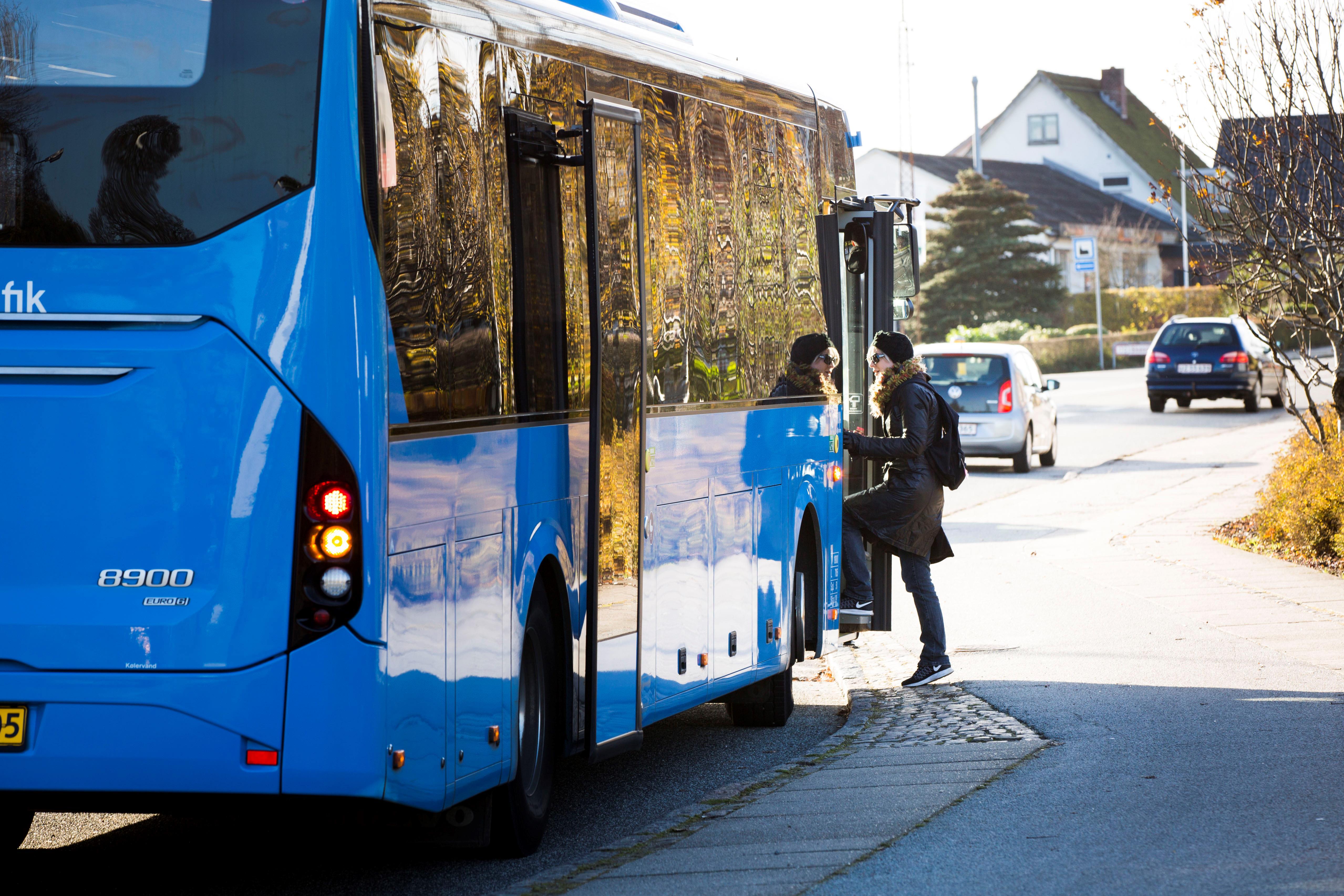 Bus fra Midttrafik, der kører mellem Viborg og Herning. (Foto: Midttrafik/PR)