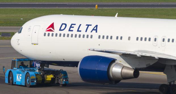 Delta Air Lines betjener som eneste flyselskab fra USA Københavns Lufthavn – dog kun med en sommerrute, der igen i år flyves dagligt til og fra New York med Boeing B767-300 med plads til 225 passagerer (Arkivfoto: © Thorbjørn Brunander Sund, Danish Aviation Photo)