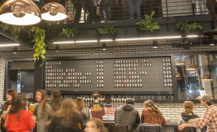 Danske Mikkeler åbner ny ølbar og restaurant i USA, denne gang i Portland i Oregon. Her har bryggeriet Breakside Brewery også til huse med en række specialøl. Foto: Breakside Brewery.