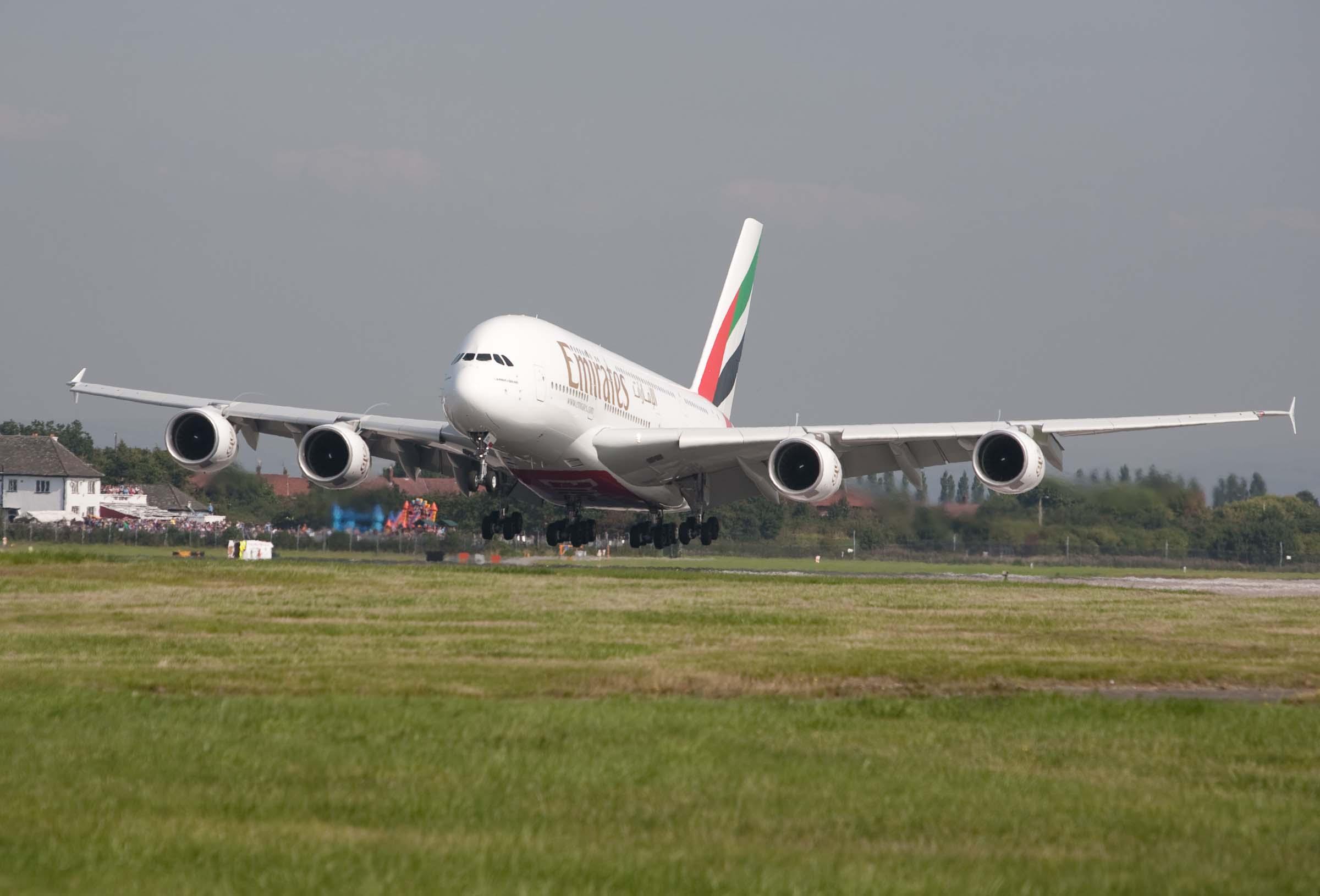 En Airbus A380-800 fra Emirates. Foto: Emirates