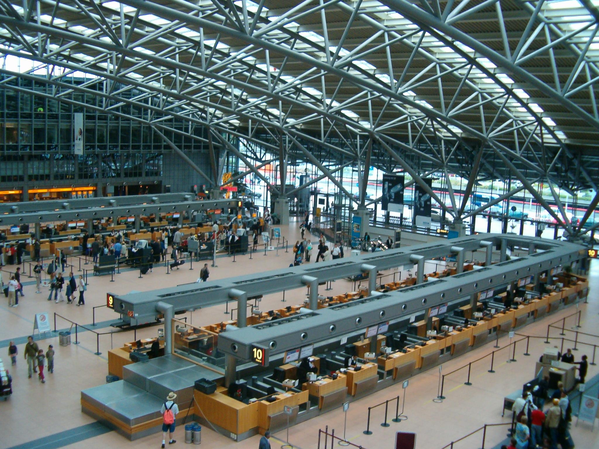 Terminal 2 i Hamborg Lufthavn. Foto: Flor!an