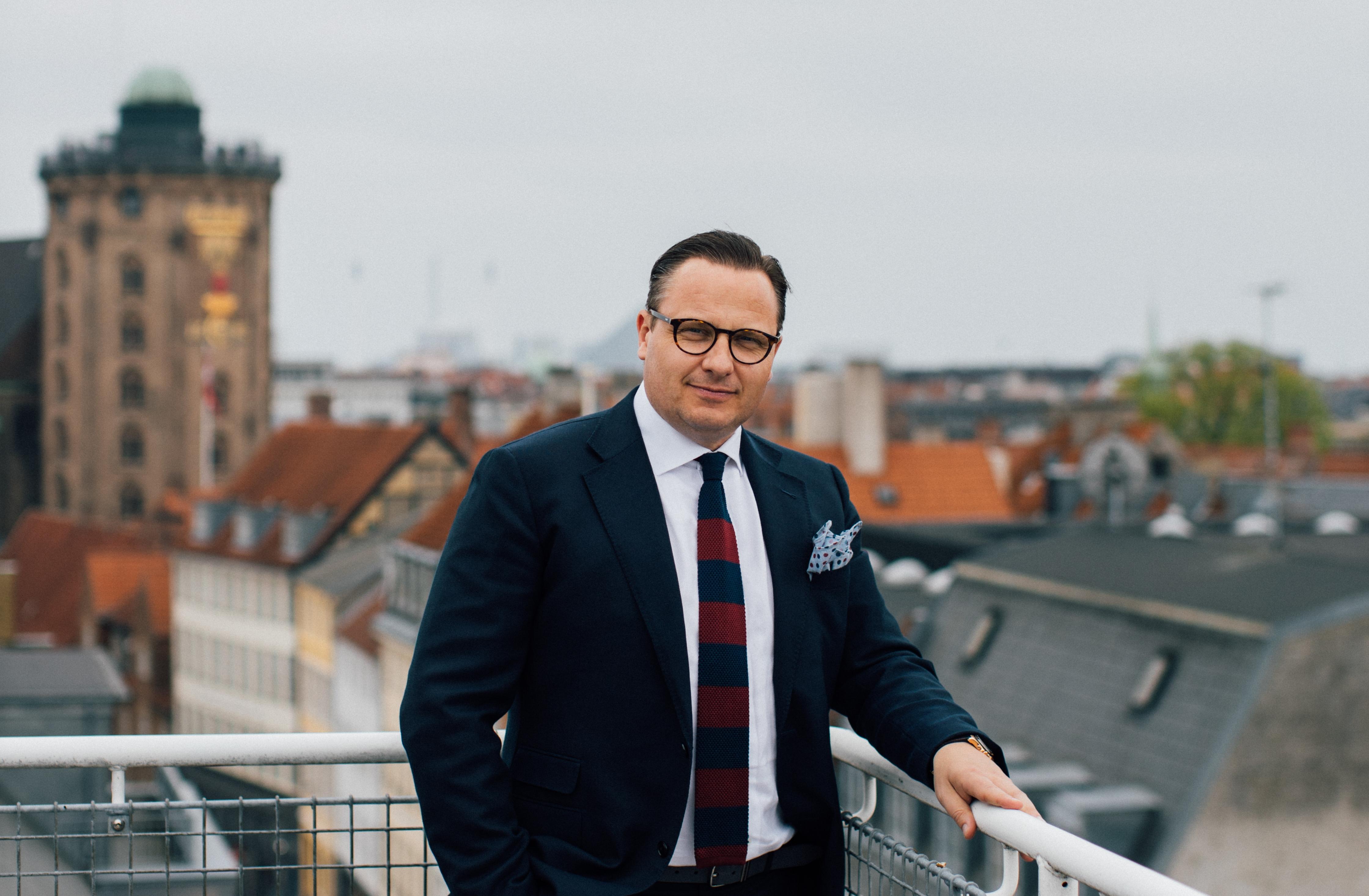 Den nye formand for Hotelnetværket i Dansk Erhverv er hoteldirektør Jesper Stubgaard fra Hotel Skt. Petri i København. Foto: Nordic Choice Hotels.