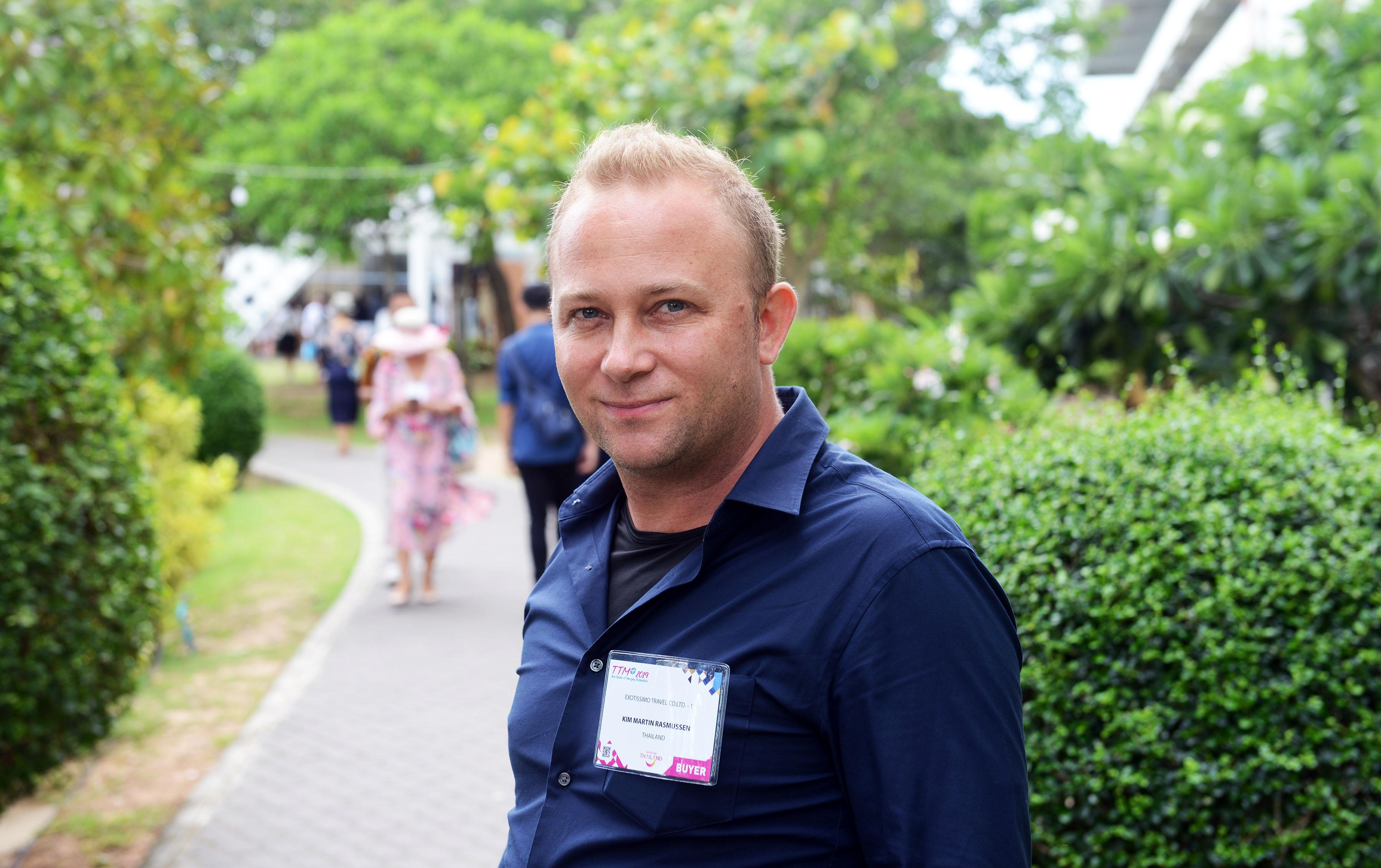 Nordjyden Kim Martin Rasmussen har vært bosat i Bangkok i 12 år, og deltog på Thailand Travel Mart i Pattaya. (Foto: Joakim J. Hvistendahl)