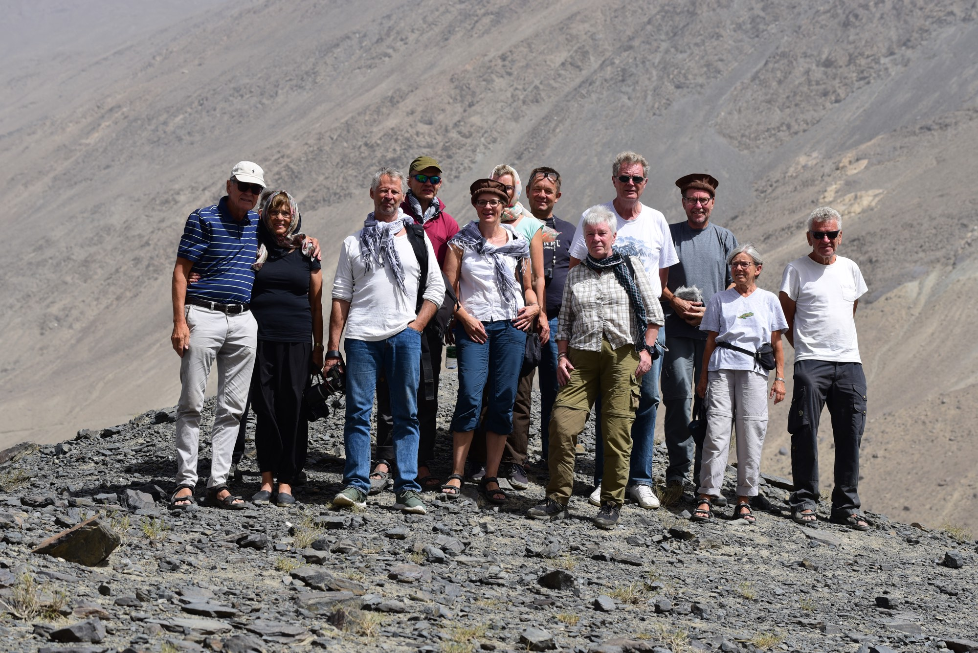 Rejsende fra Panorama Travel på besøg i Afghanistan under rejsebureauets rundrejse sidste år, der besøgte landet, der har det røde kort hos Udenrigsministeriet. Foto: Søren Bonde, Panorama Travel.