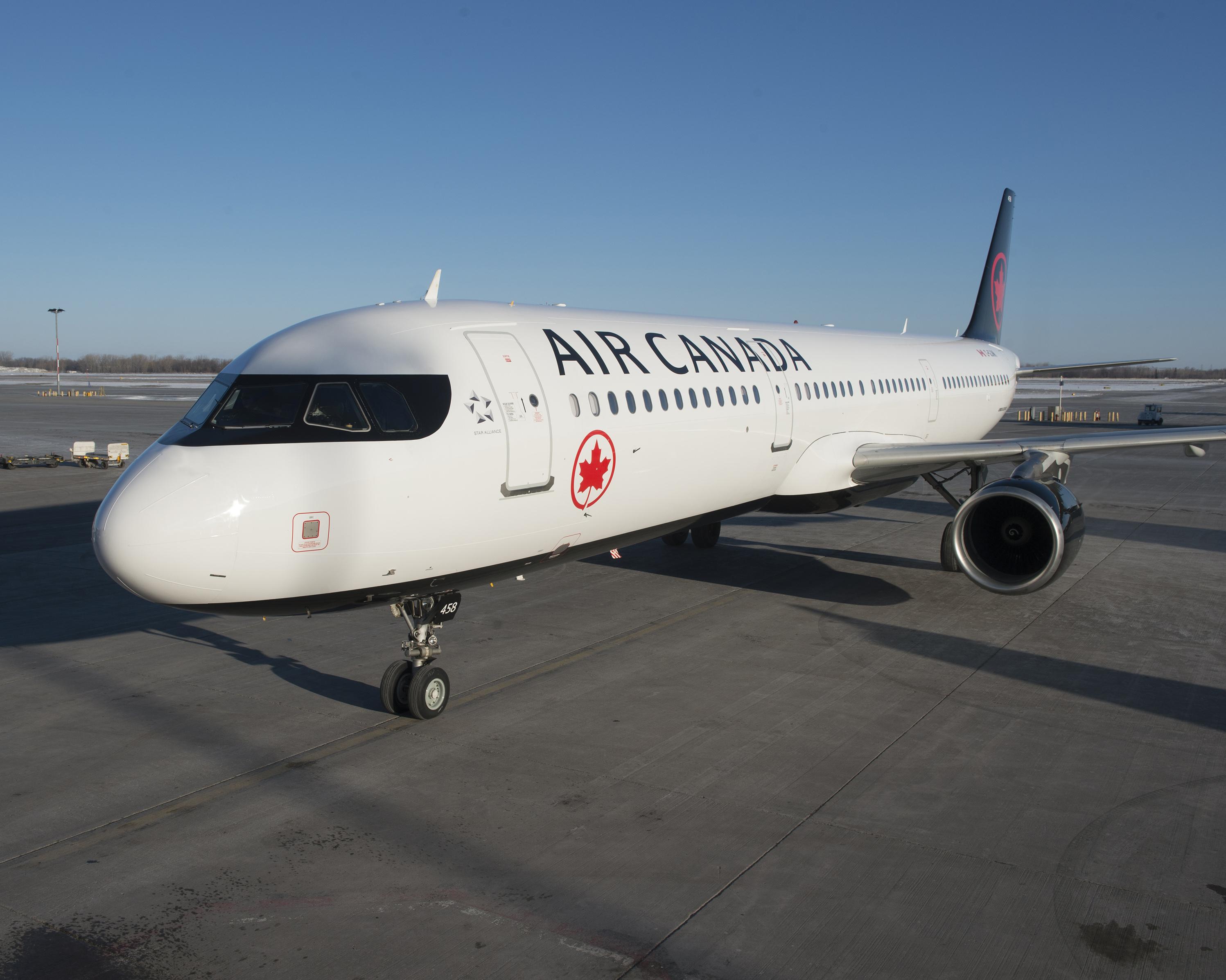 Flyvningen, hvor Air Canada-besætningen glemte en passager på indenrigsflyvning, blev udført med en Airbus A320 eller A321; pressefoto: Air Canada.