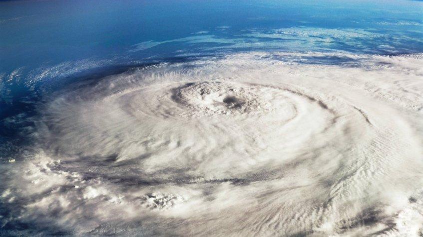 Orkanen Elena fra 1985. (Foto: Wikipedia)