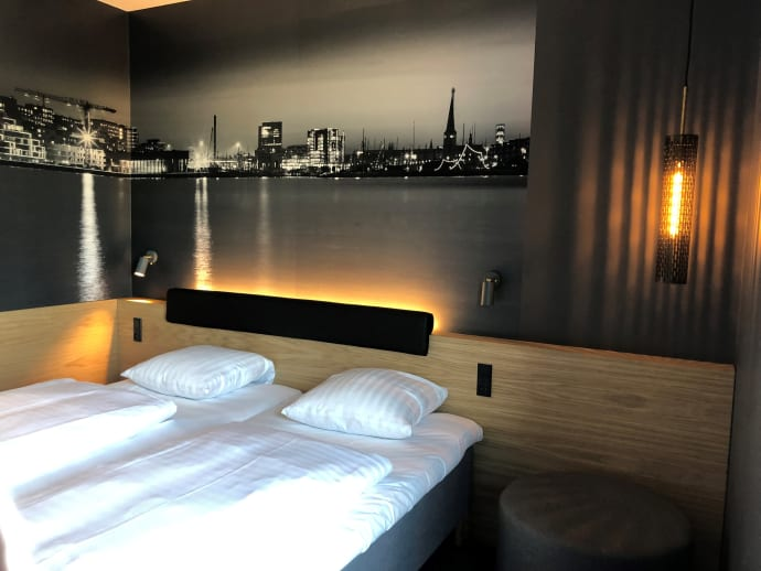 Værelse på det nye Zleep Hotel Aarhus Nord. Foto: Zleep Hotels