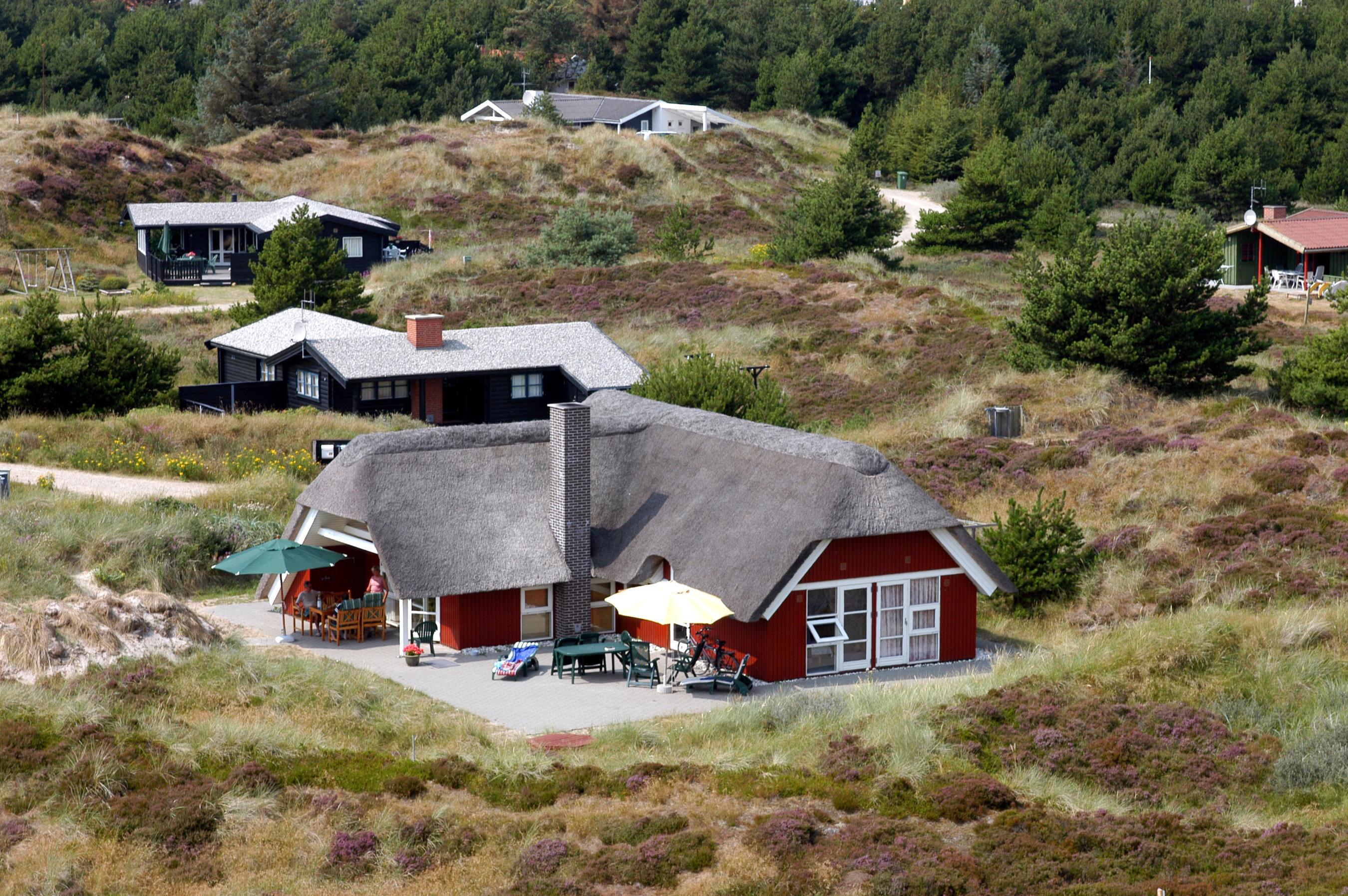Der er omkring 220.000 feriehuse i Danmark, men kun cirka 40.000 udlejes på en måde så de indgår i de officielle statistikker. Her er arkivfoto fra VisitDenmark fra Henne Strand ved den jyske vestkyst.