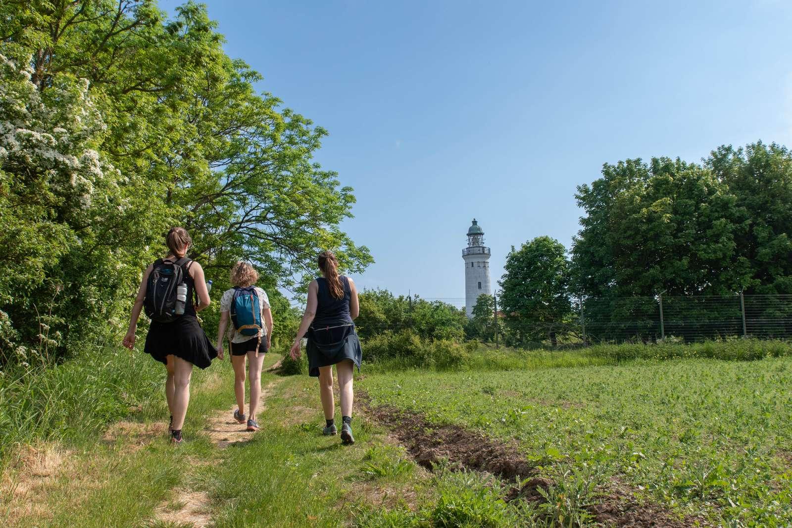 De danske destinationer ud mod Østersøen ser større bevågenhed fra tyske turister – her er det Trampestien med Stevns Fyr i baggrunden. Pressefoto: VISM for Visit SydSjælland-Møn.