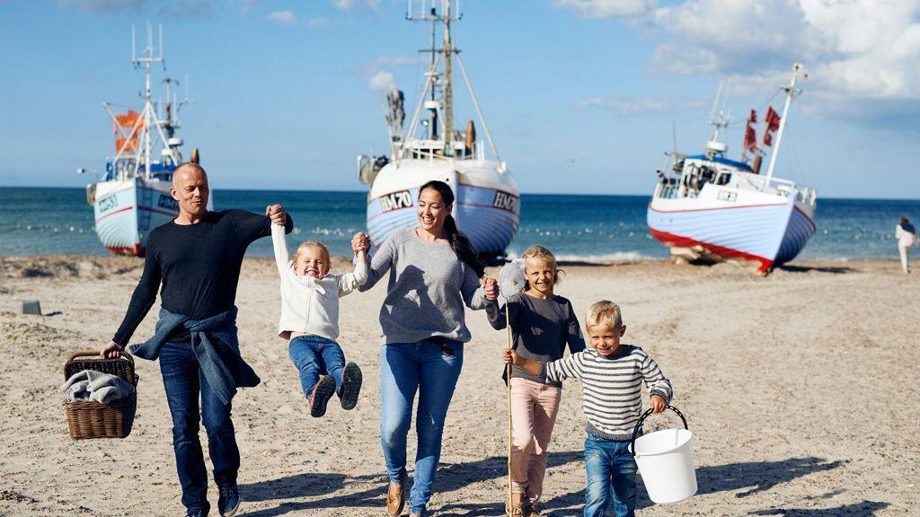 Tyskerne er så glade for de havnære danske feriehuse, at der er flere tyske overnatninger i Danmark end i for eksempel Grækenland. Danmark er blandt de ti lande med flest tyske overnatninger, oplyser Dansk Erhverv. Pressefoto: VisitDenmark.