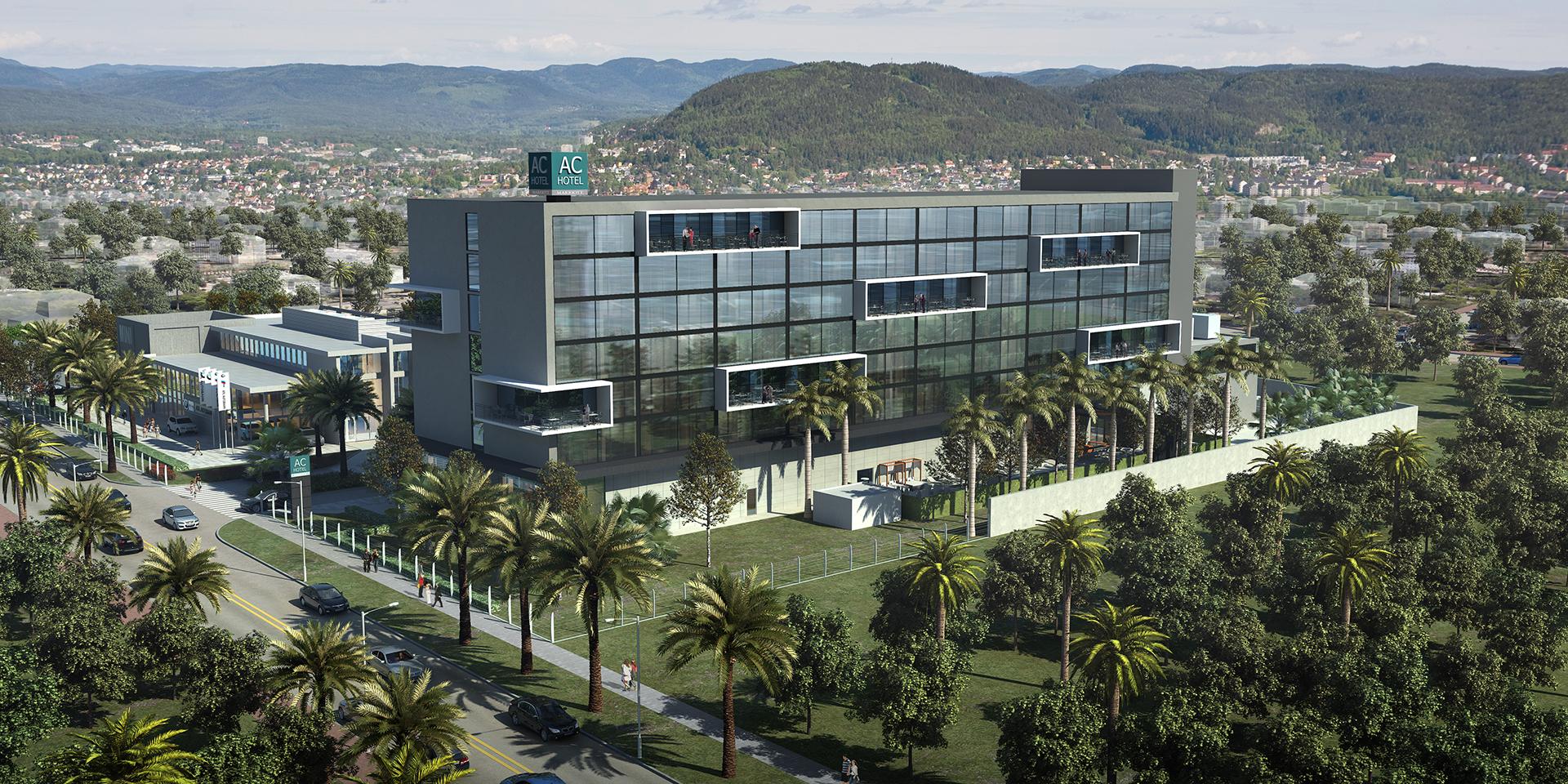 Emirates og Marriott har indgået aftale, hvor elitemedlemmer hos flyselskabet og hotelgiganten kan optjene bonuspoint hos hinanden. Et af Marriotts nyeste hoteller er dette AC Hotels by Marriott, der netop er åbnet i Jamaicas hovedstad, Kingston, med 219 værelser og suiter. Pressefoto fra Marriott.