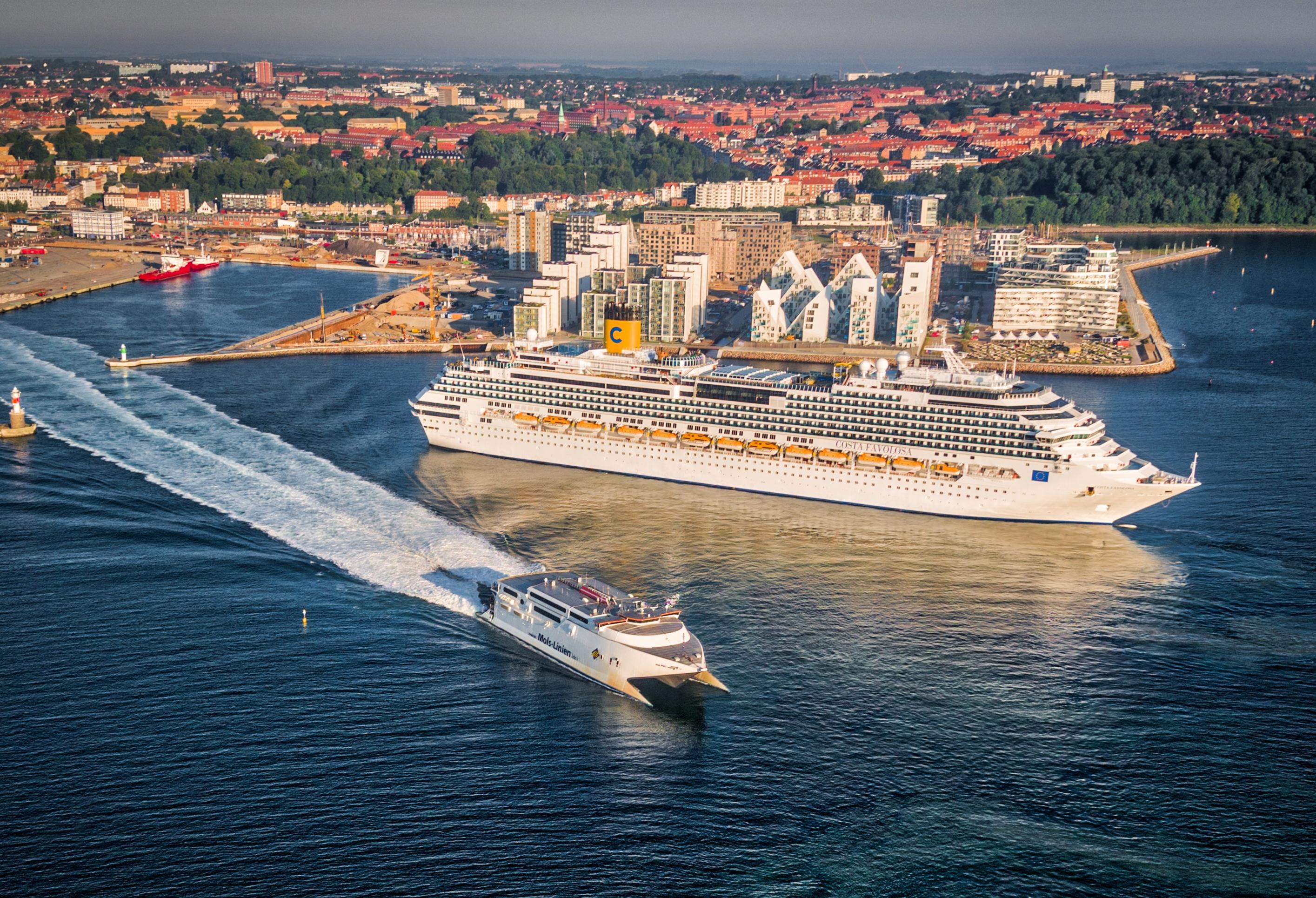 Aarhus er sammen med Rønne, Skagen og Aalborg de største danske krydstogthavne udenfor København. Foto for VisitAarhus, Dennis Borup Jakobsen.