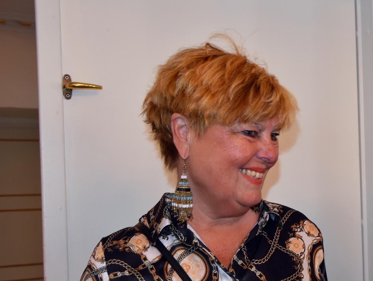 Lone Andersen sidst i maj ved Ejvind Olesens farvelreception i København på Hotel Phoenix. Foto: Preben Pathuel.