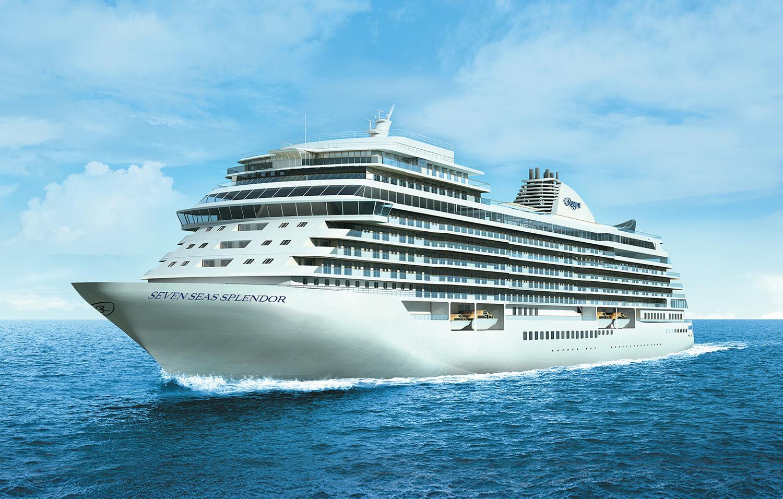 I 2020 får luksusrederiet Regent Seven Seas Cruises sit femte skib, Splendor, der blandt andet kommer til Bornholm. Skibet har blandt andet verdens største krydstogtsuite på 413 kvadratmeter til 71.000 kroner i døgnet. Foto: Regent Seven Seas Cruises.