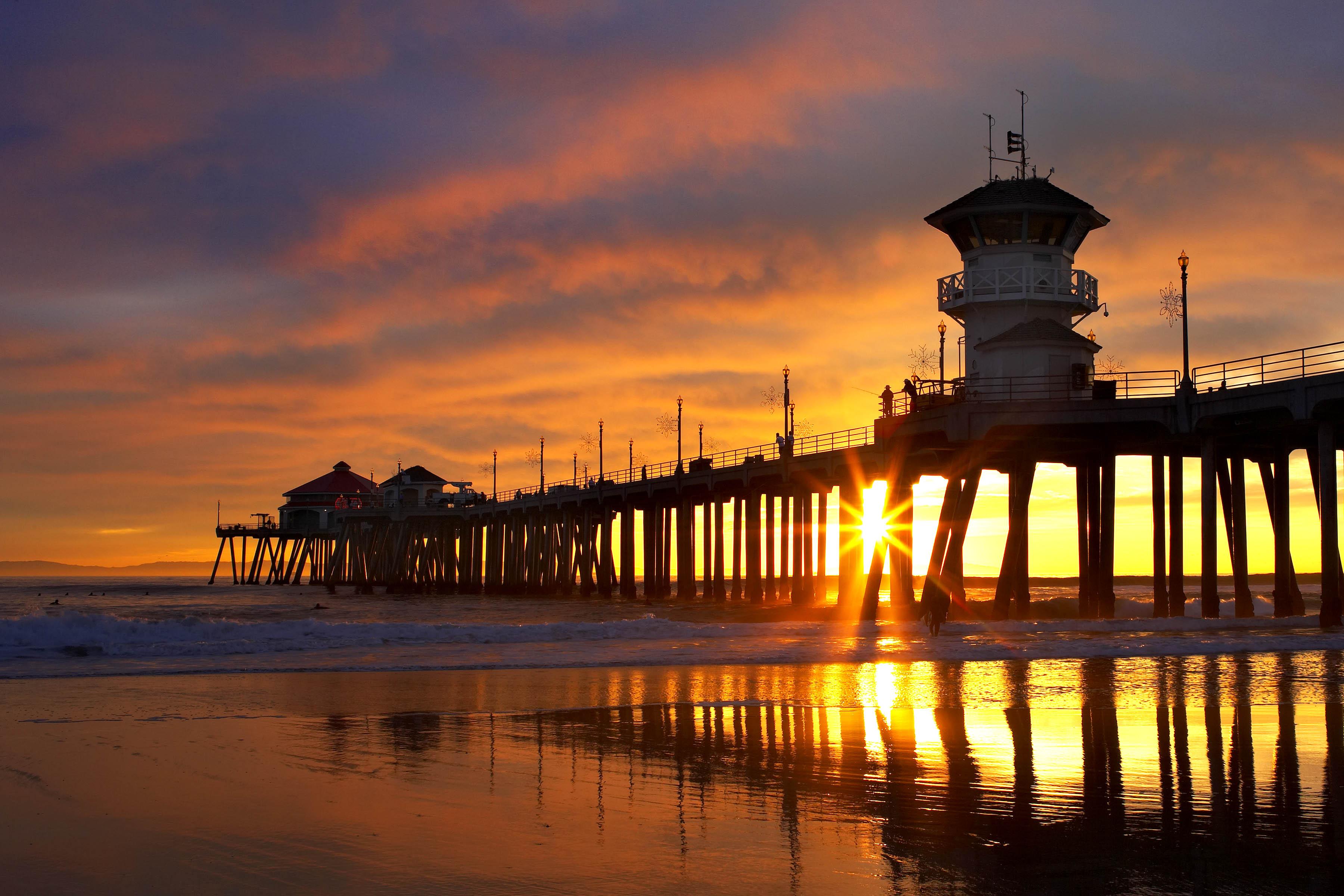 USA har problemer med at tiltrække turister fra oversøiske lande i samme forhold som konkurrenterne. Fotoet er fra en af USA's største surfbyer, Huntington Beach i det sydlige Californien. Pressefoto: Huntington Beach Marketing and Visitors Bureau.