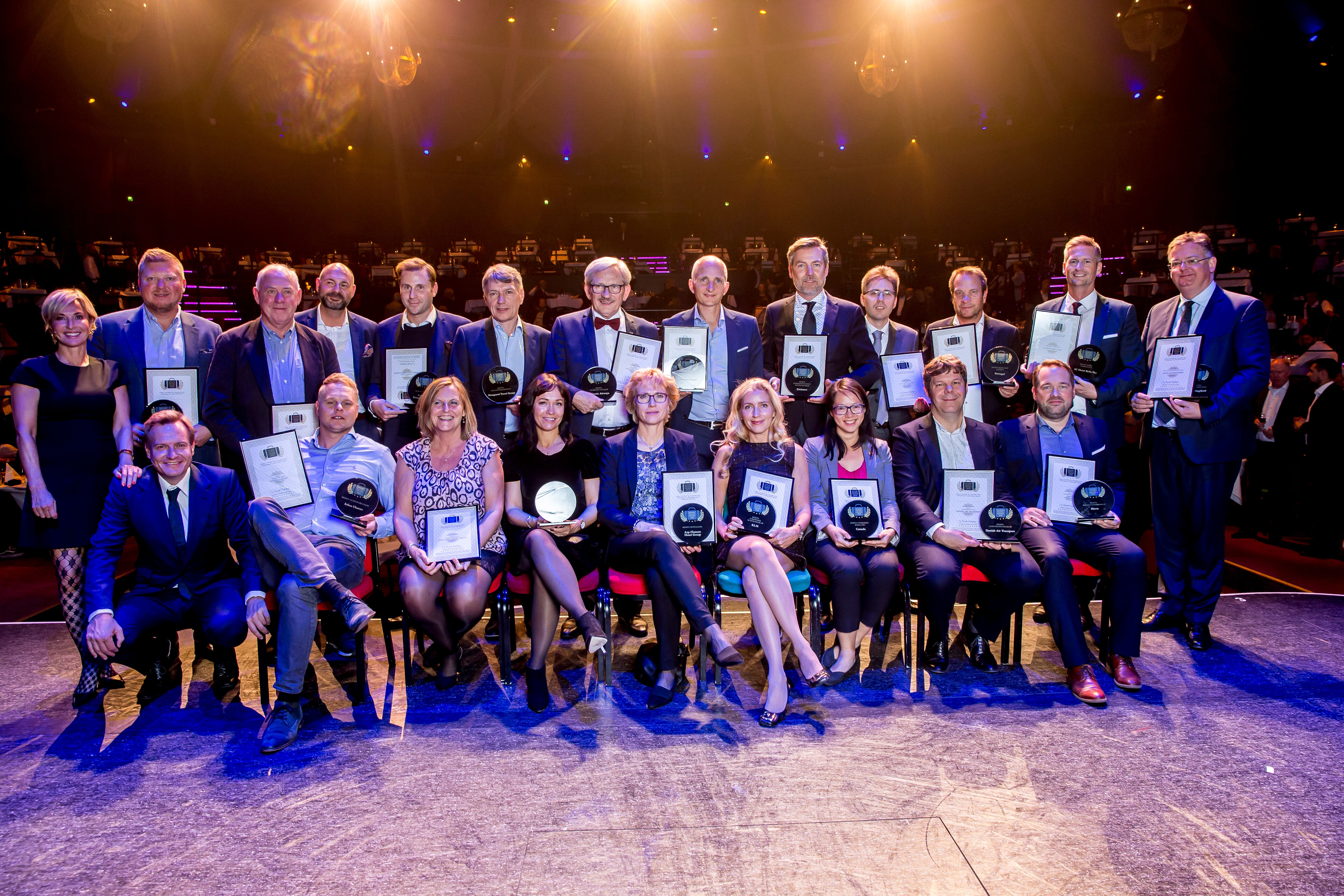 De 18 vindere af Danish Travel Awards i 2018 – ved arrangementet den 2. oktober i år uddeles der 20 awards. Foto: Michael Stub.