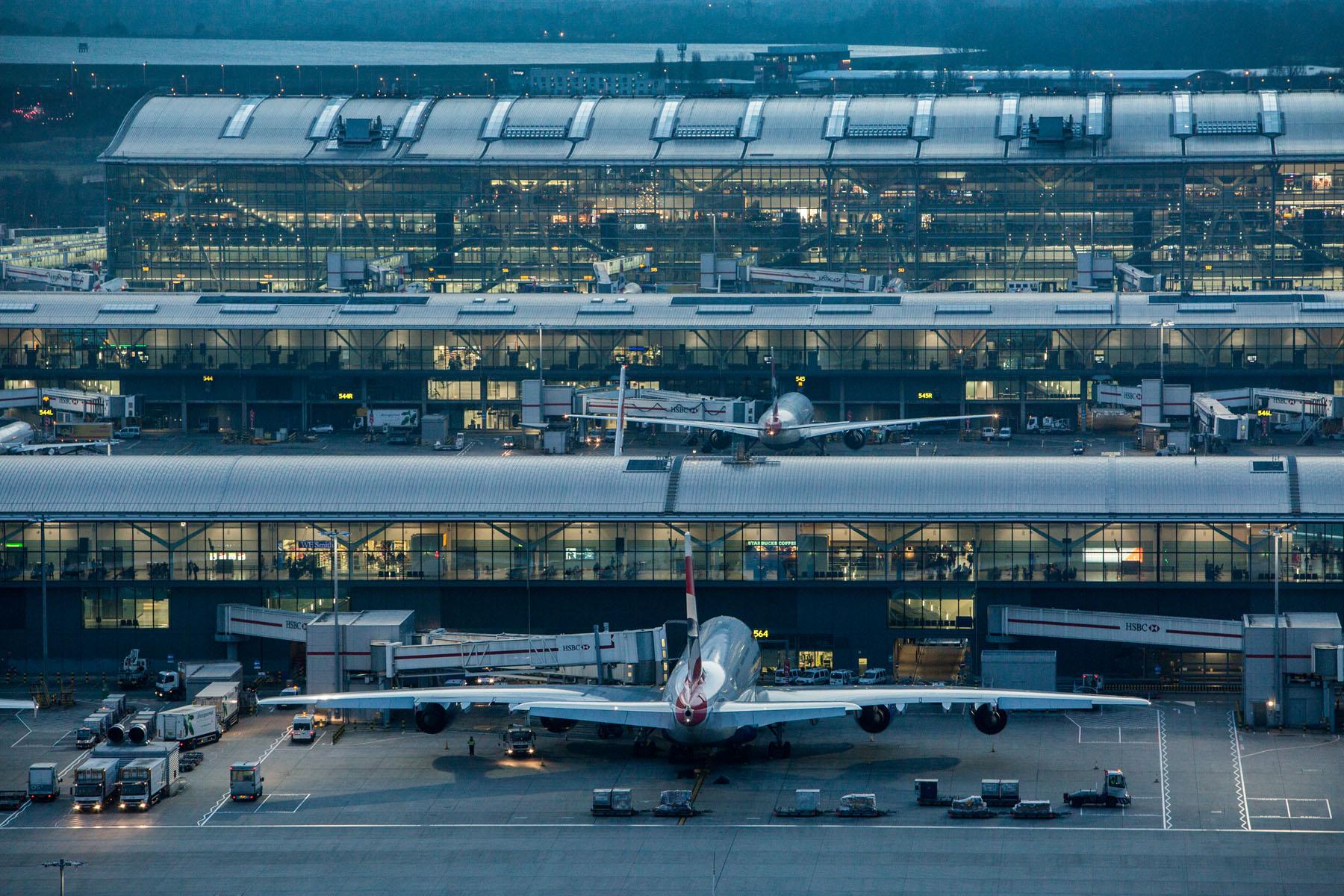 Fem af verdens flyruter med den største omsætning er til og fra London Heathrow; her er det Terminal 5. Pressefoto: Anthony Charlton for London Heathrow Airport.