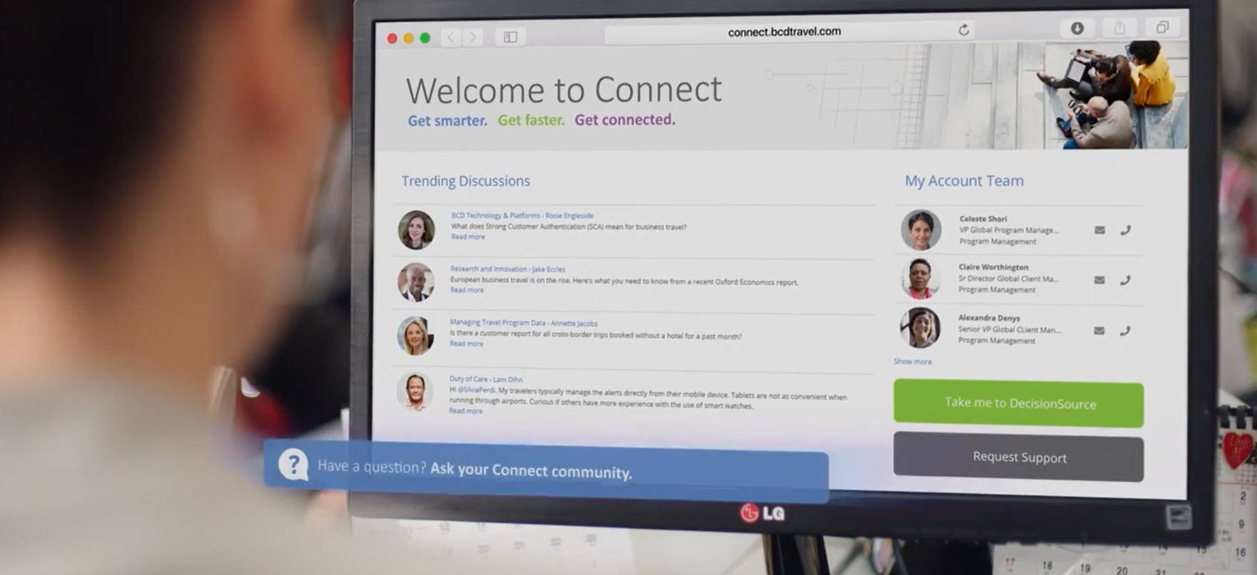 BCD Travel nye Connect-koncept er allerede tilgængelig for en gruppe kunder og vil gradvist de næste uger blive rullet ud til alle kunder på BCD Travels markeder, også i Danmark. Illustration: BCD Travel.