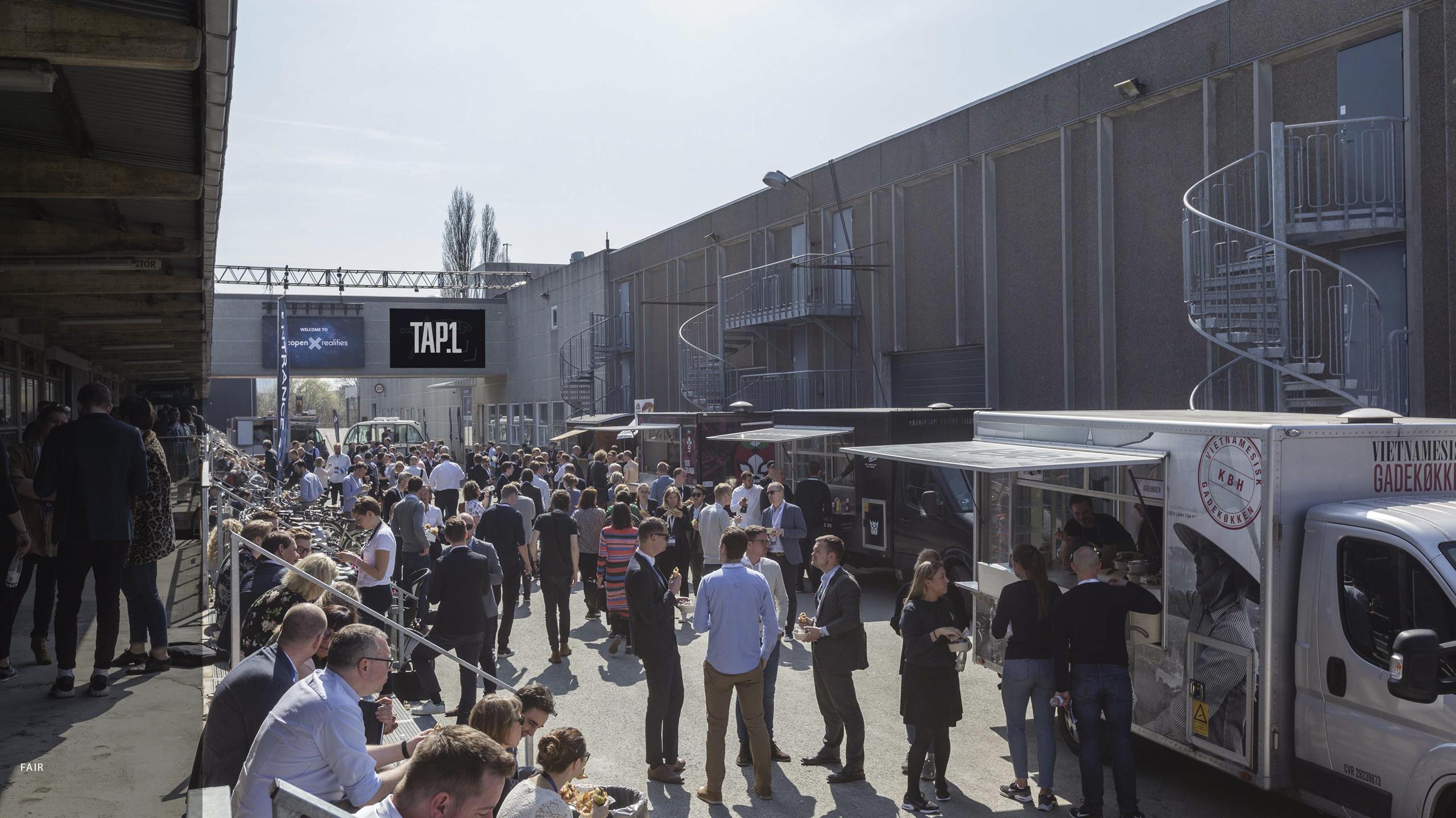 Event Expo-messen afvikles i november på møde- og eventstedet TAP1 på Amager. Event Expo må ikke forveksles med den større, årlige Nordic Meetings & Events Expo, der arrangeres af Kursuslex. Pressefoto: TAP1.dk