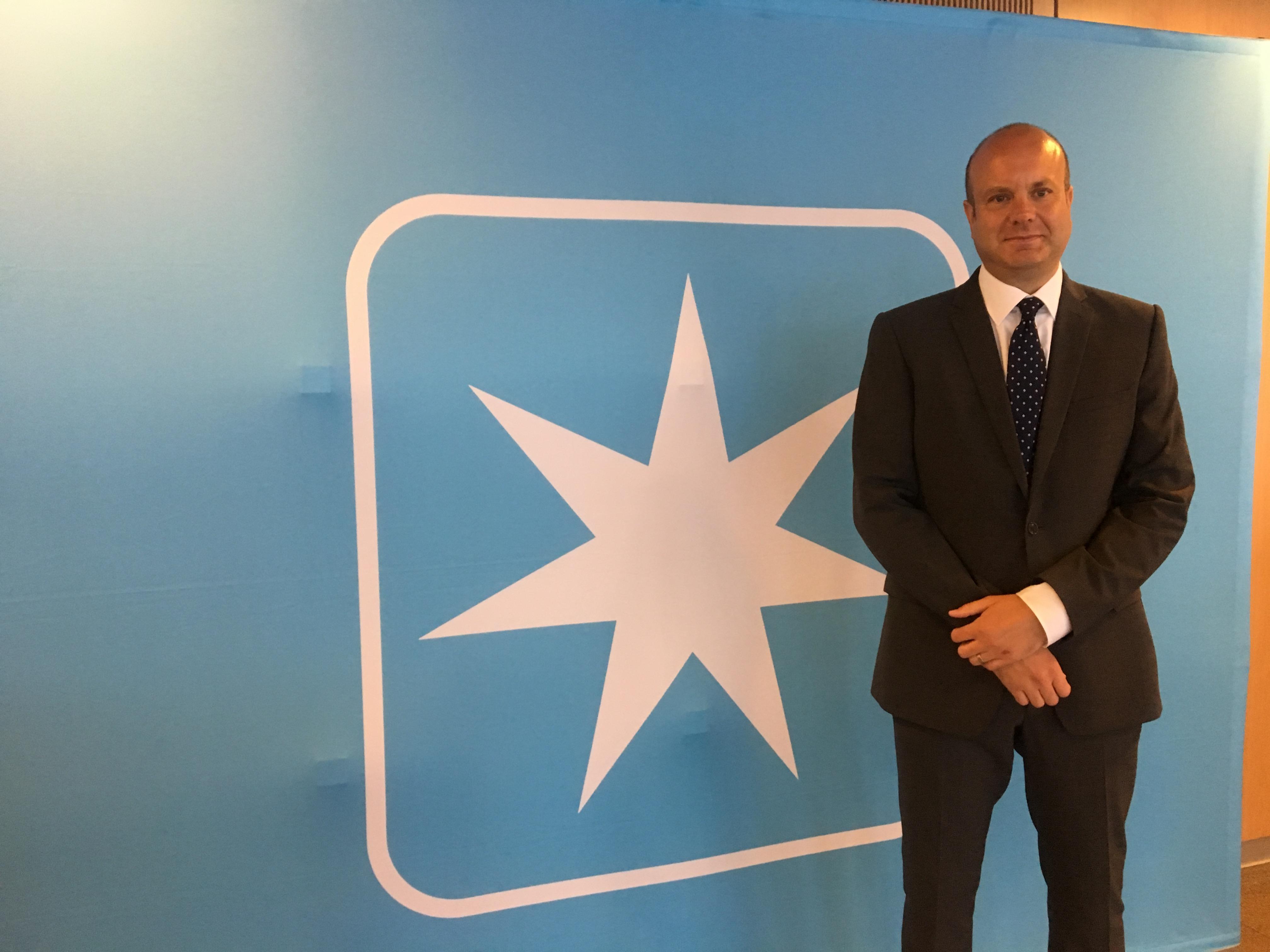 Engelske Tom Rathbone kommer til A.P. Møller-Mærsk efter omkring 22 år i Lufthansa Group. Foto: Rikke Alber, Maersk Procurement.
