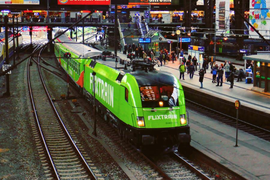 I løbet af første halvår af 2020 begynder tyske FlixTrain også at køre på to af Sveriges største ruter – fra Stockholm til såvel Gøteborg som Malmø. Pressefoto: FlixTrain.