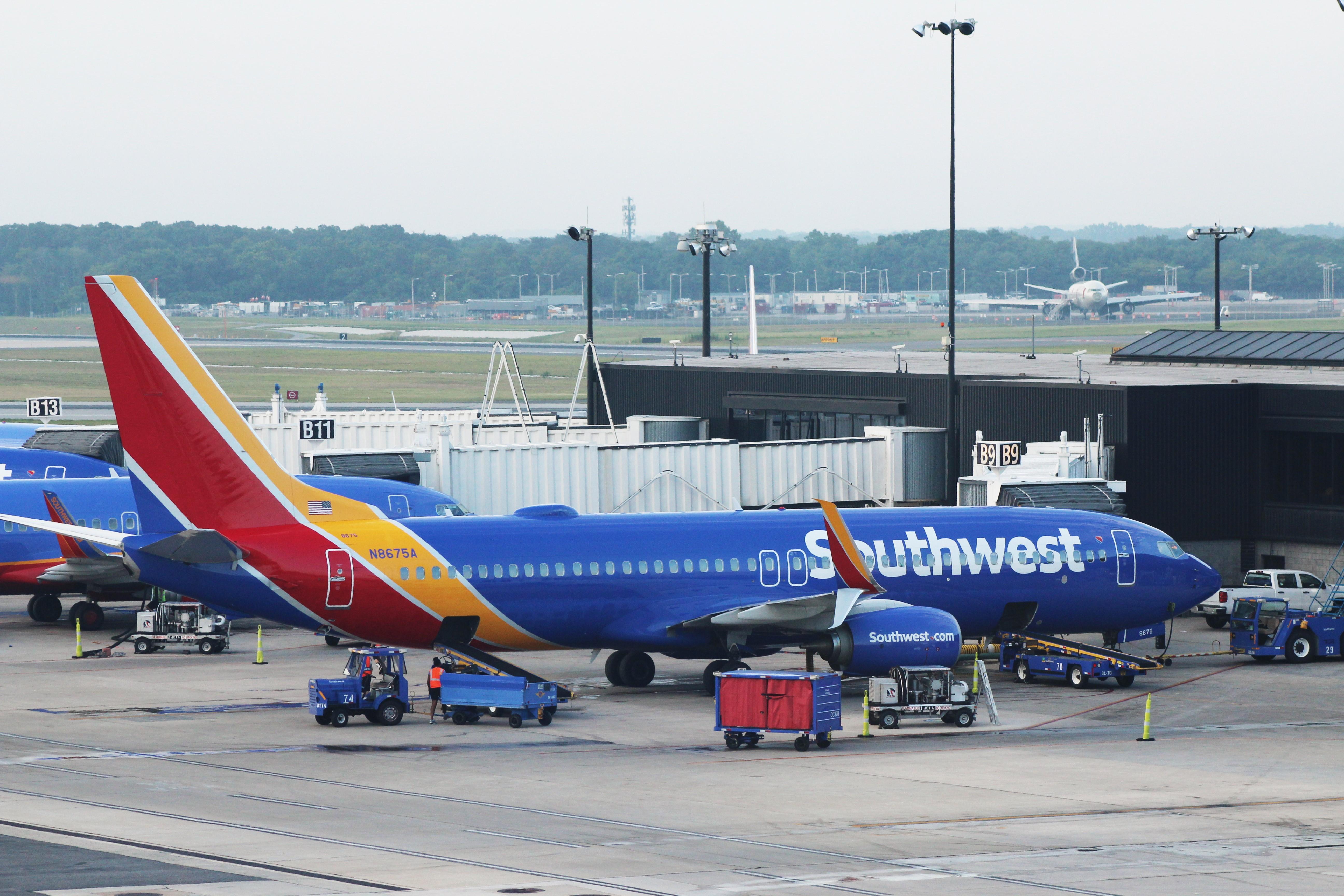 En Boeing 737-800 fra det amerikanske flyselskab Southwest Airlines. Foto: Colton Henline, CC 4.0