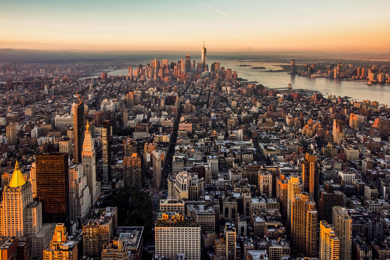 New York City vil med ny global kampagne i blandt andet Skandinavien søge at tiltrække endnu flere turister. Her er det er kig mod det sydlige Manhattan. Pressefoto: Julienne Schaer for NYC Company.
