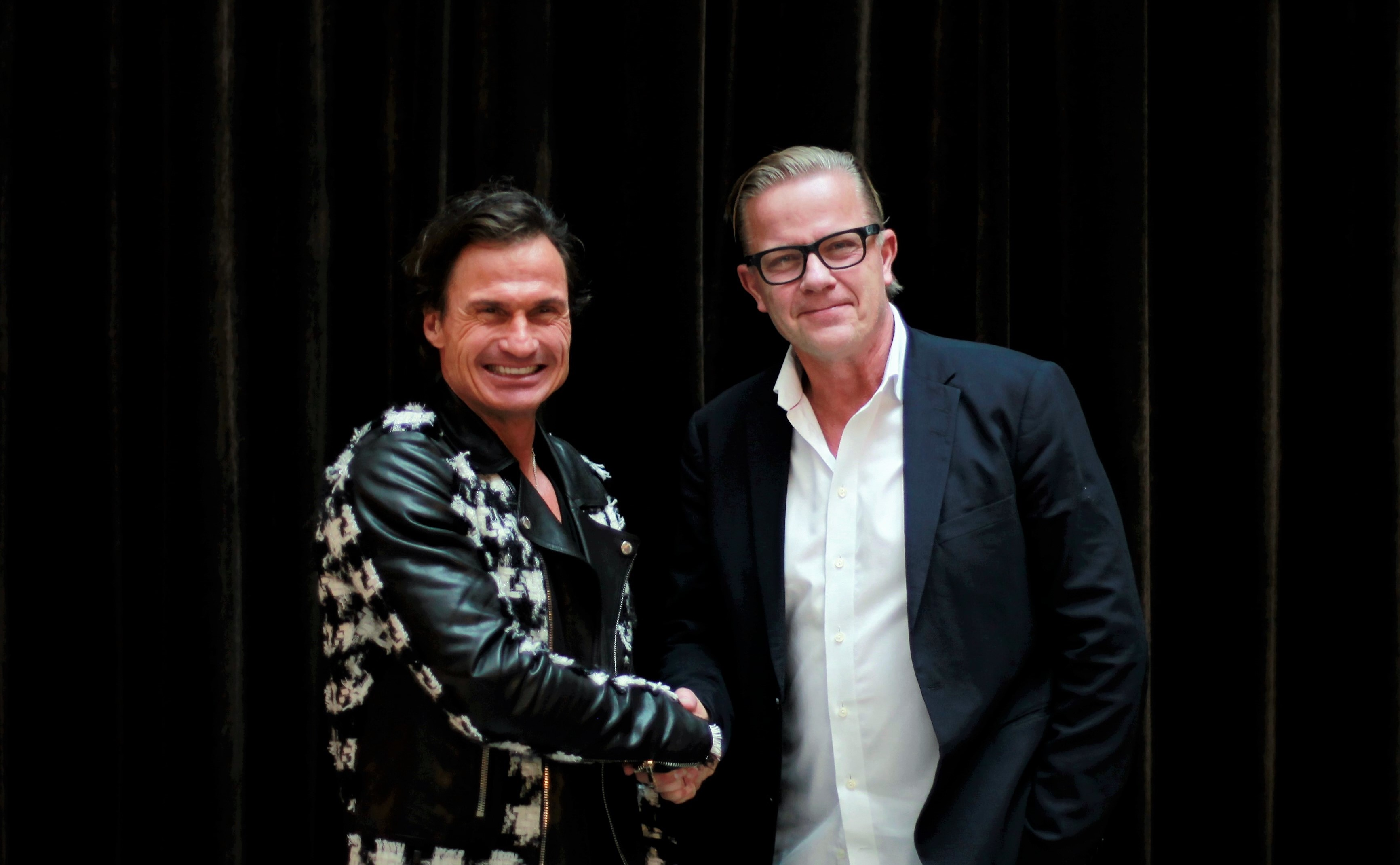 Petter Stordalen (t.v.) og Magnus Wikner, nordisk direktør for det tidligere Thomas Cook Northern Europe: (Foto: Ving | PR)