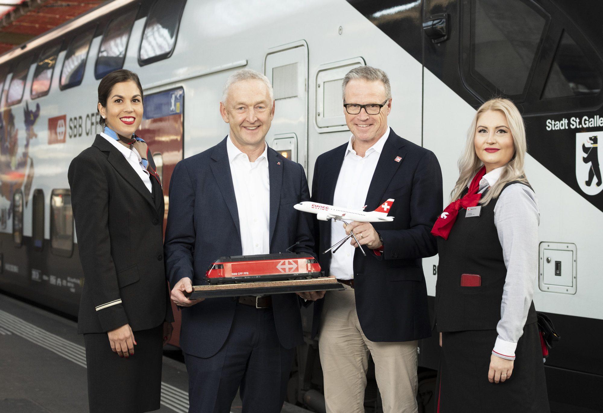 SWISS og Swiss Federal Railways (SBB) udvider samarbejdet omkring flytoget i Schweiz. Foto: SWISS/SBB