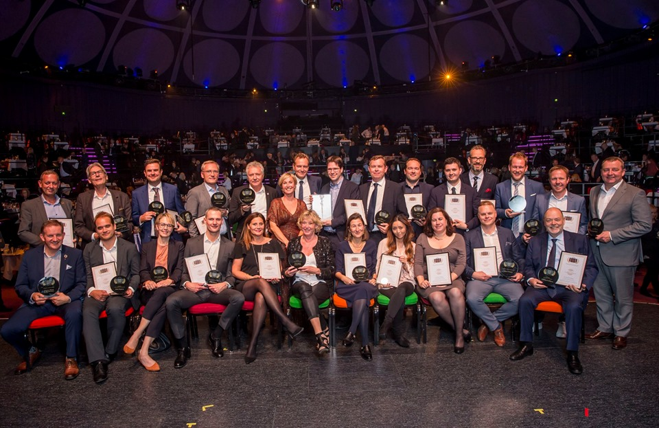 Klik for stort format. Vinderne af Danish Travel Awards 2019, foto: Michael Stub.