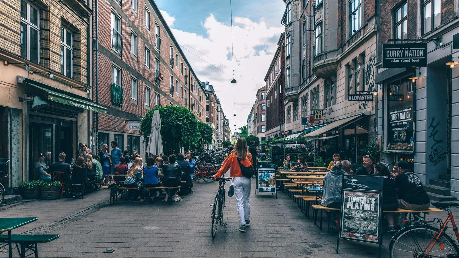 Blågårdsgade på Nørrebro er én af attraktionerne i København, når turisterne kommer væk fra den indre by. Foto: Martin Heiberg, VisitDenmark, Copenhagen Media Center.