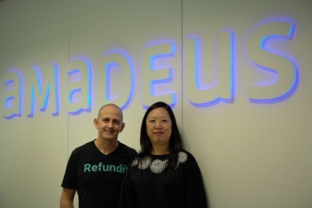Xiv Tirosh, adm. direktør hos Refundit (t.v.) og Suzanne Chiu, chef for Amadeus Ventures (Foto: Amadeus | PR)