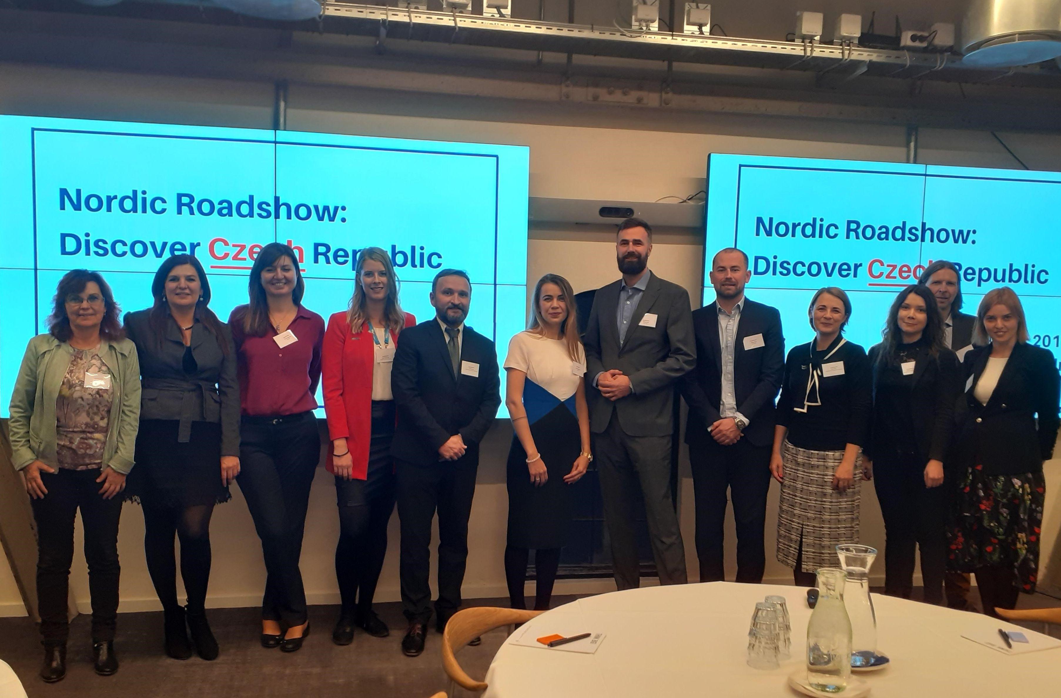 De tjekkiske partnere fotograferet før starten på tirsdagens workshop i København. Foto: Target Tourism.