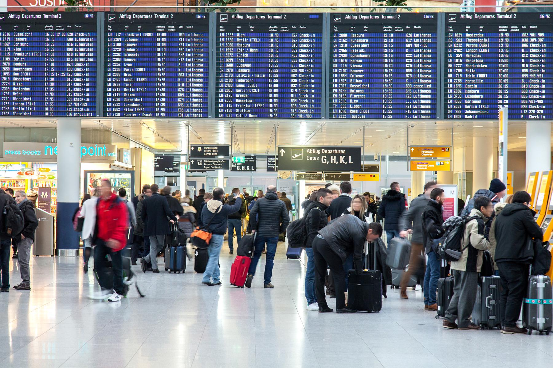 Pressefoto fra München Airport.