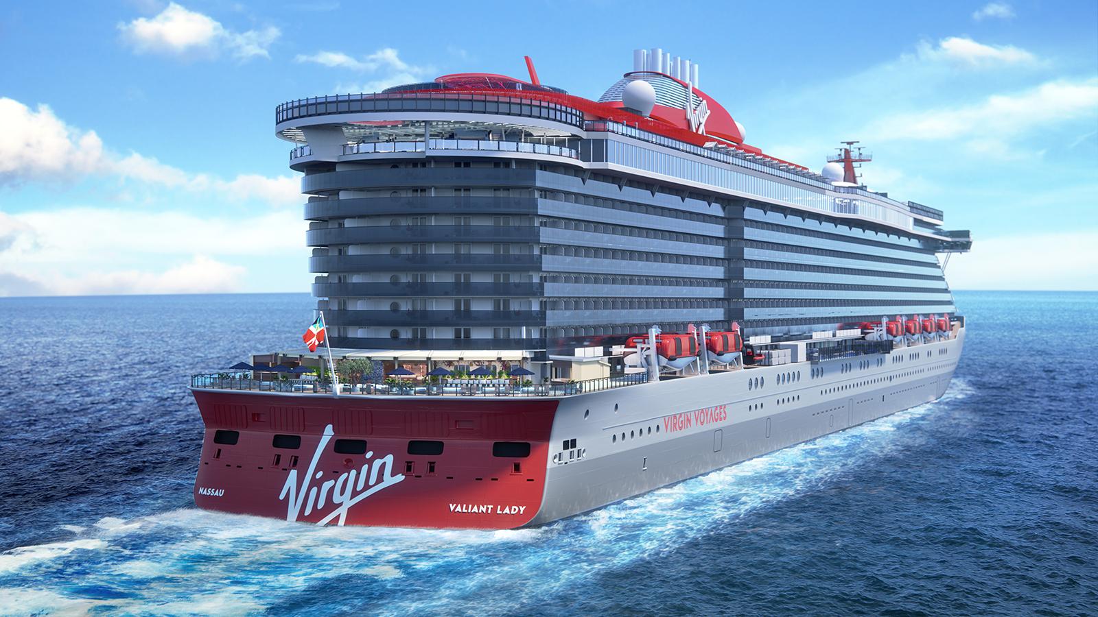 Valiant Lady, det andet i en serie på tre skibe til Virgin Voyages (Foto: Virgin Voyages   PR)