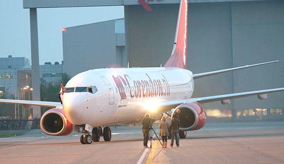 Den hollandske turoperatør Corendon, der har samme ejer som det store danske charterbureau Sunweb, er begyndt at tilbyde rejser til Brasilien – fra Amsterdam med Boeing B737-800 fly, der skal optankes undervejs. Pressefoto: Corendon Dutch Airlines.