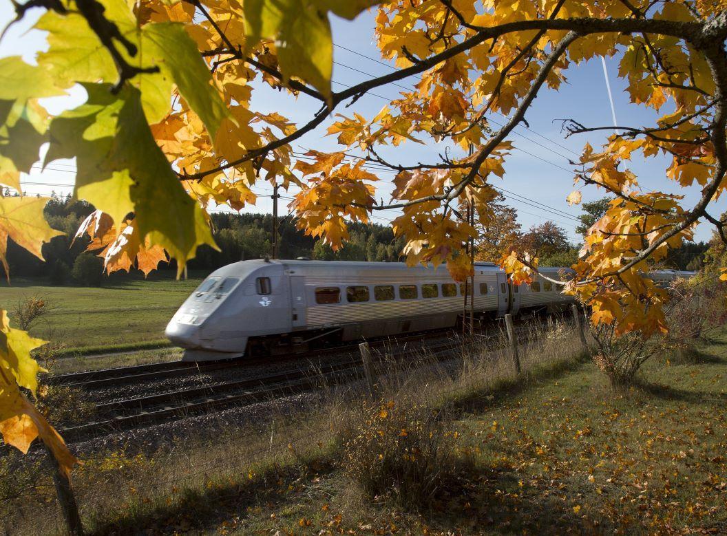 Det svenske DSB, SJ, har stor passagervækst – også fra forretningsrejsende indenfor Sverige, der blandt andet for at være miljøvenlig vælger toget fremfor flyet. Pressefoto fra SJ: Stefan Nilsson.