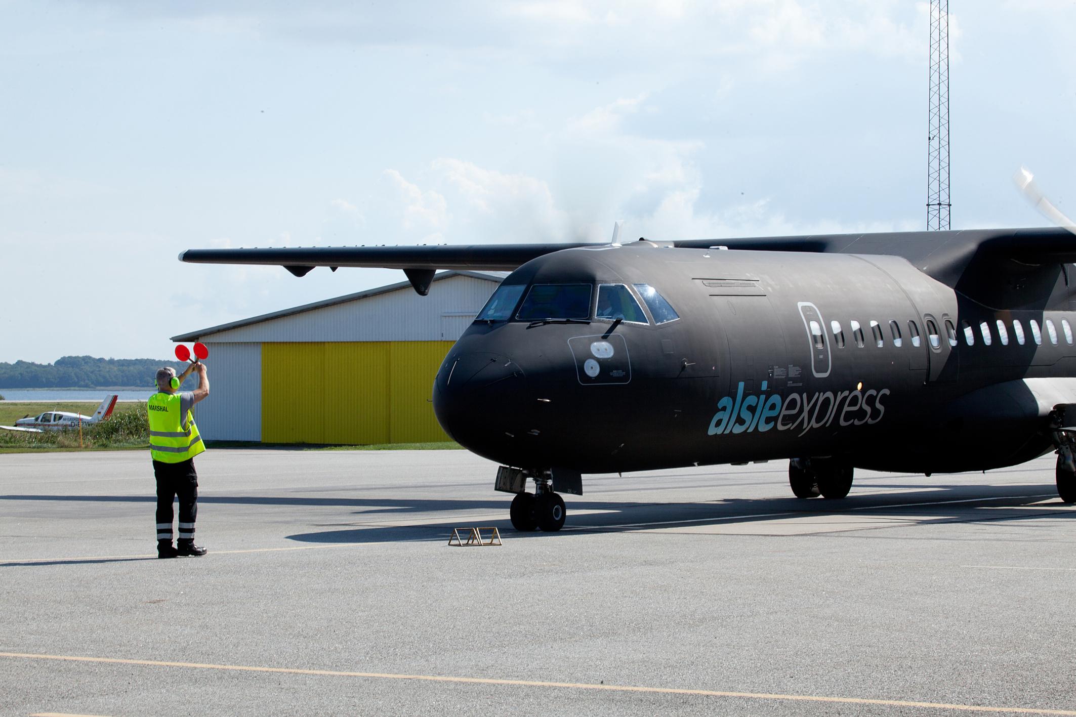 Et af Alsie Express' foreløbig to ATR-fly skal fra april til oktober næste flyve charterserier til primært Rom men også Berlin. Pressefoto: Alsie Express.
