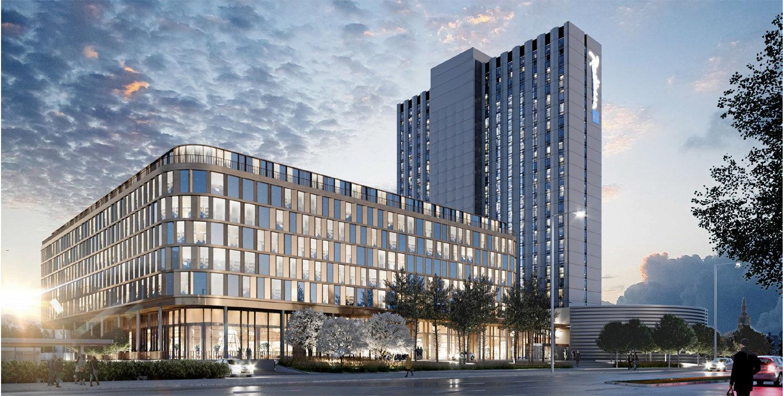 Københavns Kommunes Teknik- og Miljøudvalg har igen givet den norske ejer af bygningen med Radisson Blu Scandinavia Hotel tilladelse til en udvidelse. Denne gang er planen en ny hotelbygning på op mod ni etager og en kontorbygning på op mod syv etager. Illustration fra PLH Arkitekter.