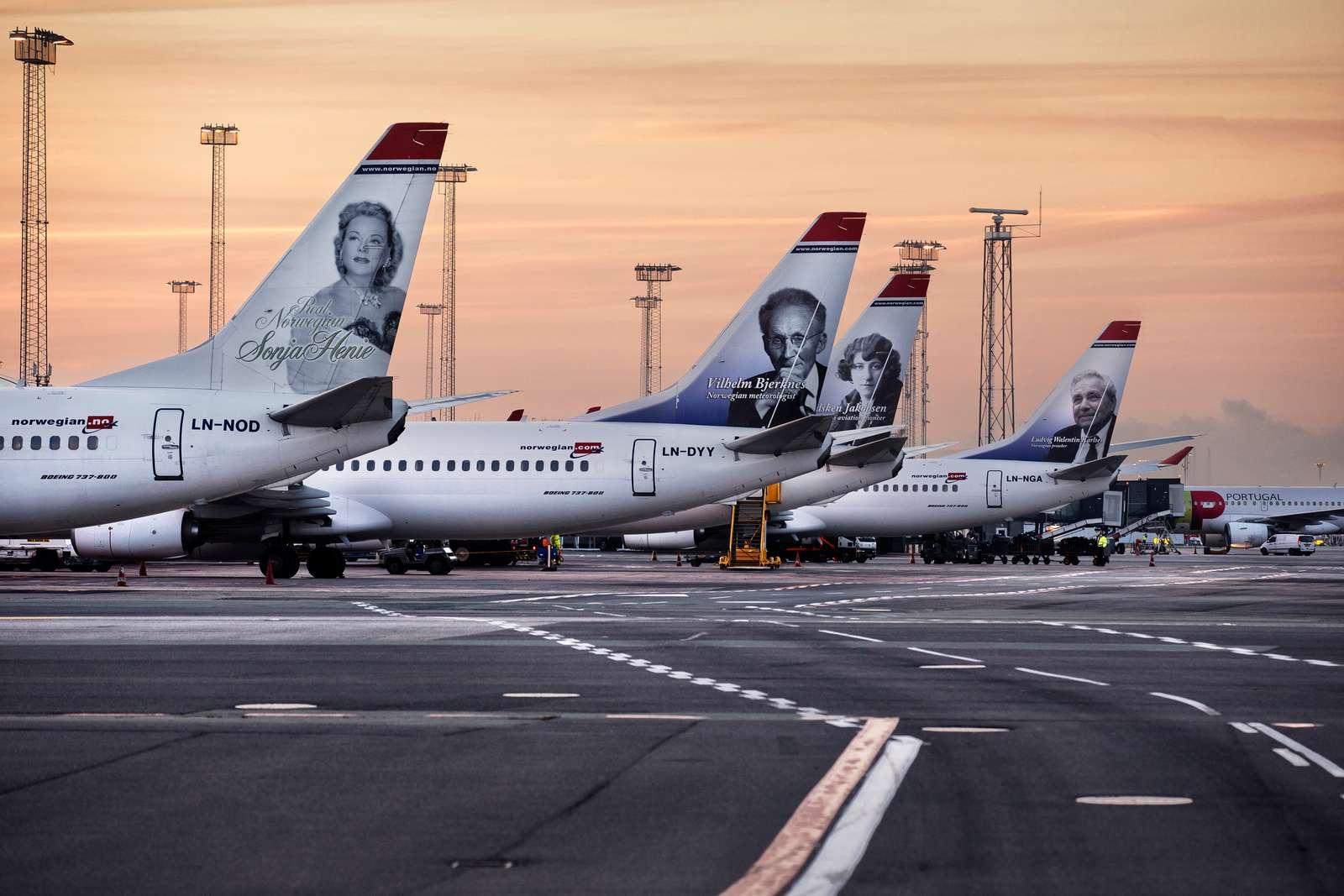 Norwegian er efter SAS næststørste flyselskab i Danmark. Forleden meddelte Europæiske ERV, at rejseforsikringsselskabet ikke ville dække sine danske rejsebureaukunders udgifter efter 14. januar, hvis Norwegian gik konkurs – men nu er parterne på vej mod en løsning. Arkivfoto fra Københavns Lufthavn: Ernst Tobisch.